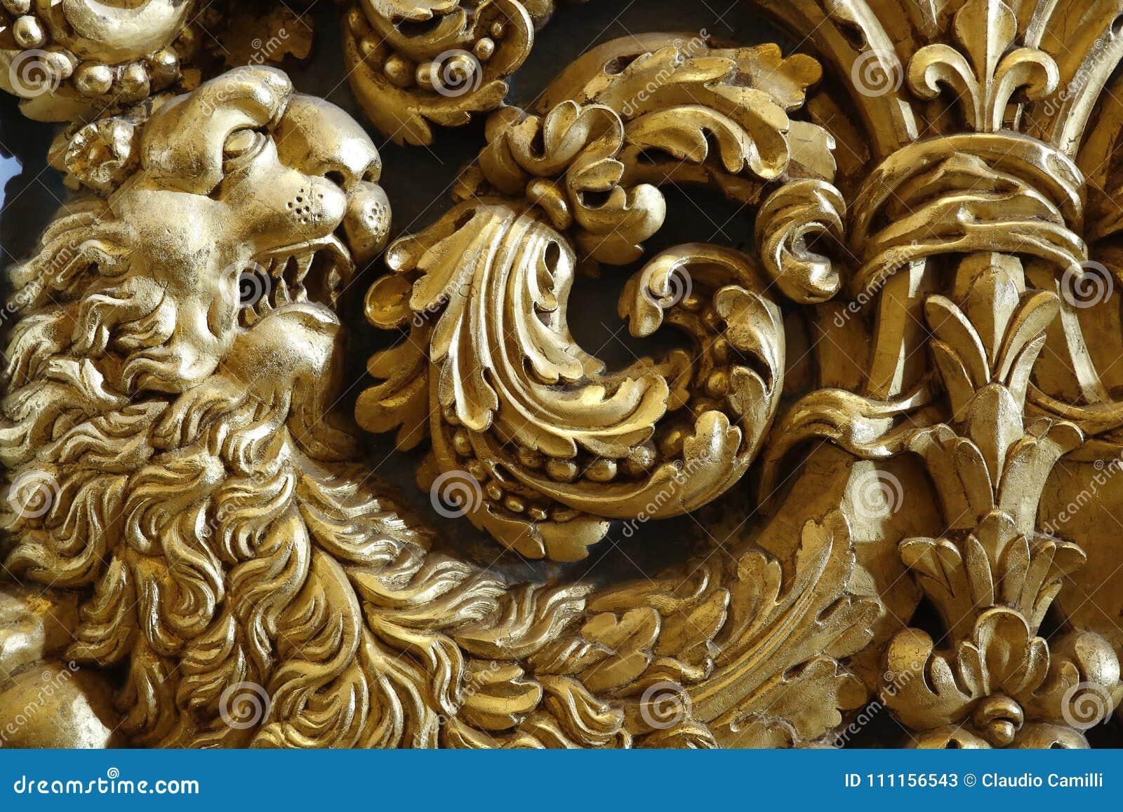 巴洛克式的金狮子