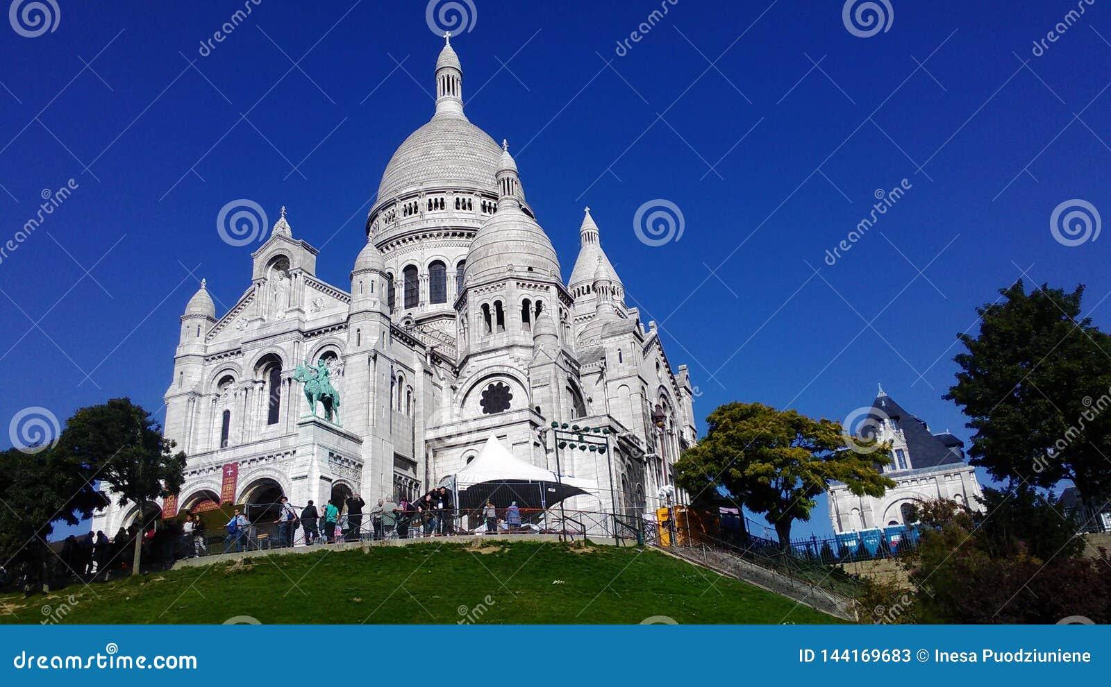 巴黎大教堂的神圣的心脏