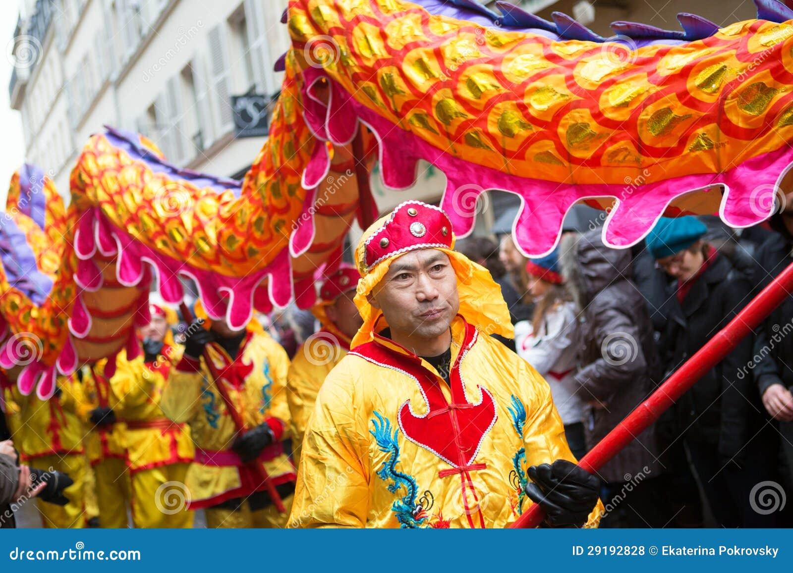 巴黎,法国- 2月10 : 春节