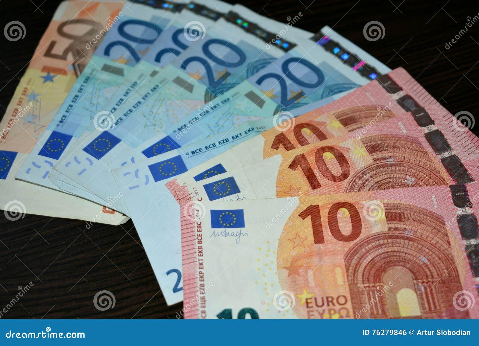 货币 10 20 50欧元