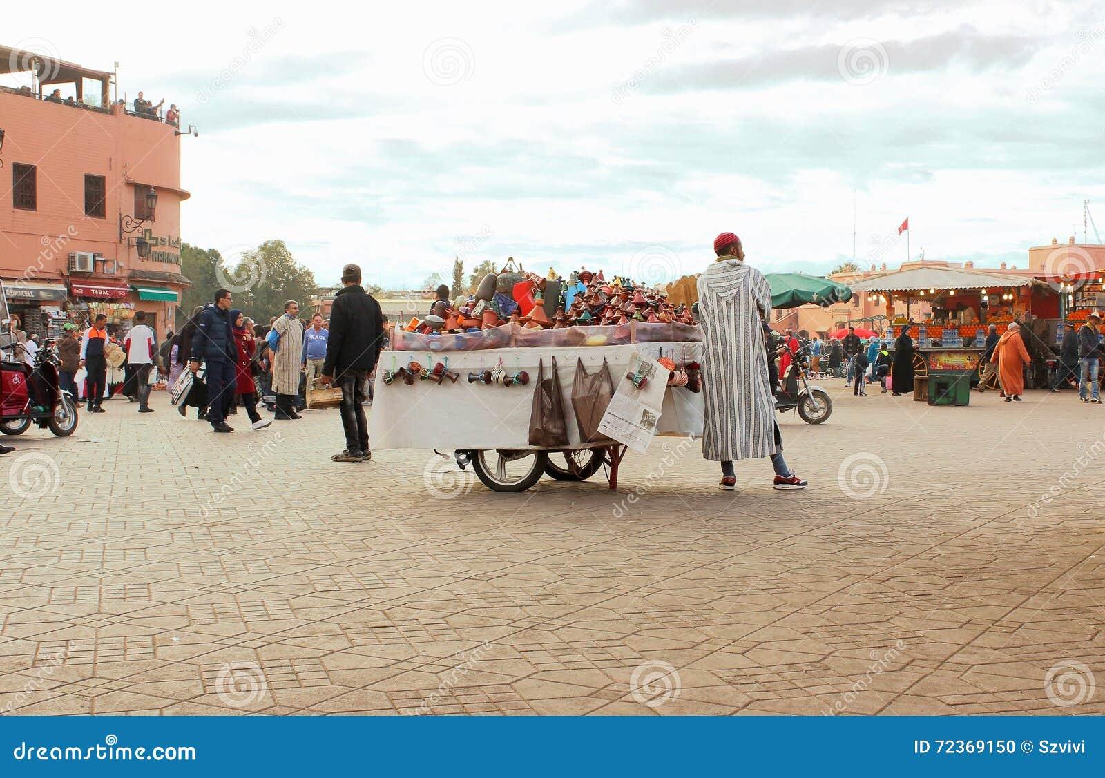 市场在马拉喀什,摩洛哥