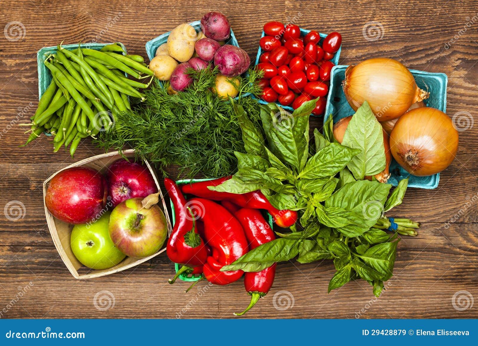 市场水果和蔬菜