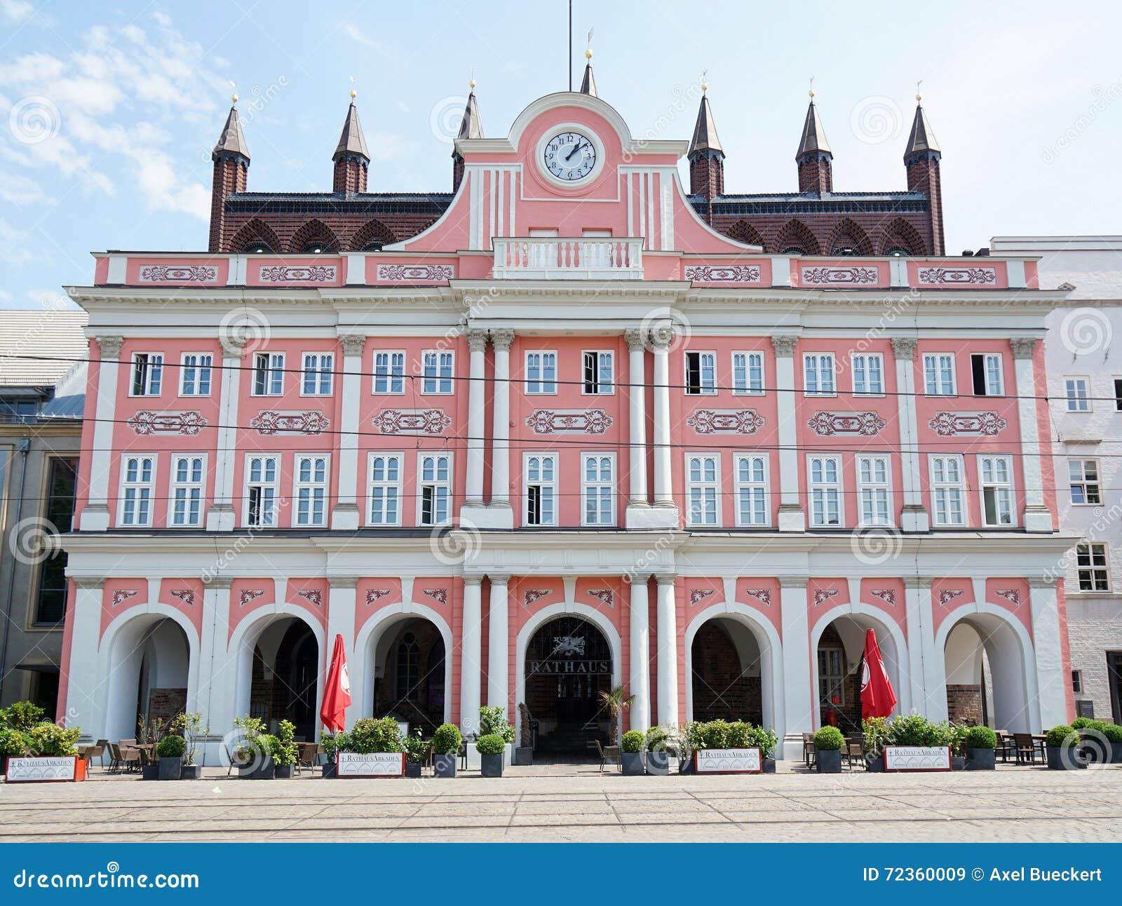 市政厅大厦在罗斯托克德国