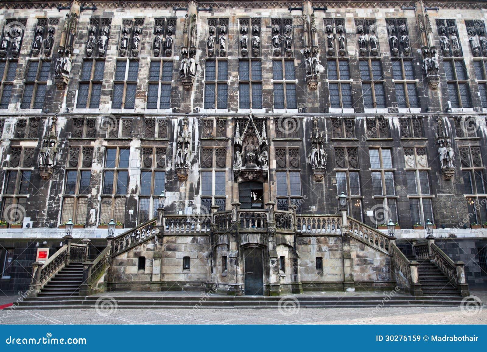 市政厅的门面在亚琛
