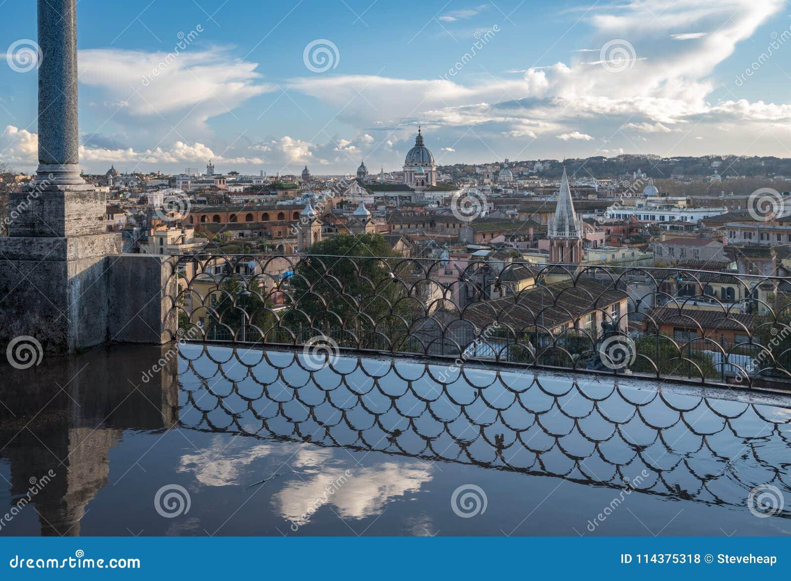 市的地平线罗马,意大利