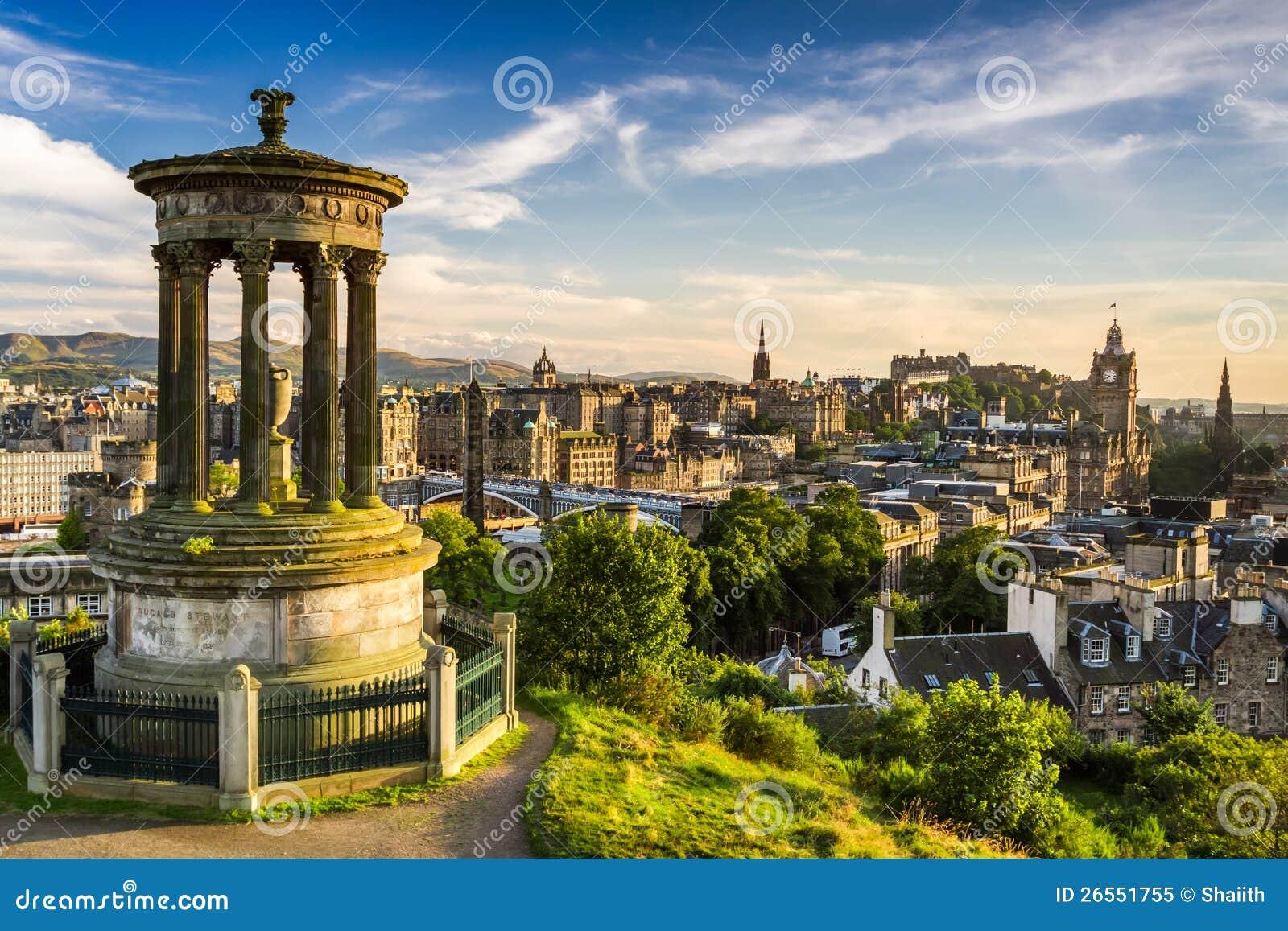 市的美丽的景色爱丁堡