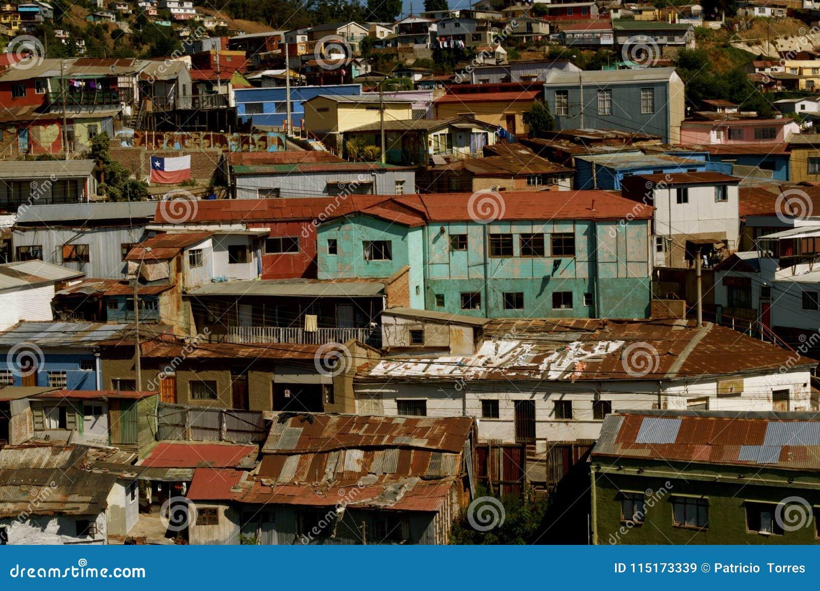 市的都市混乱瓦尔帕莱索
