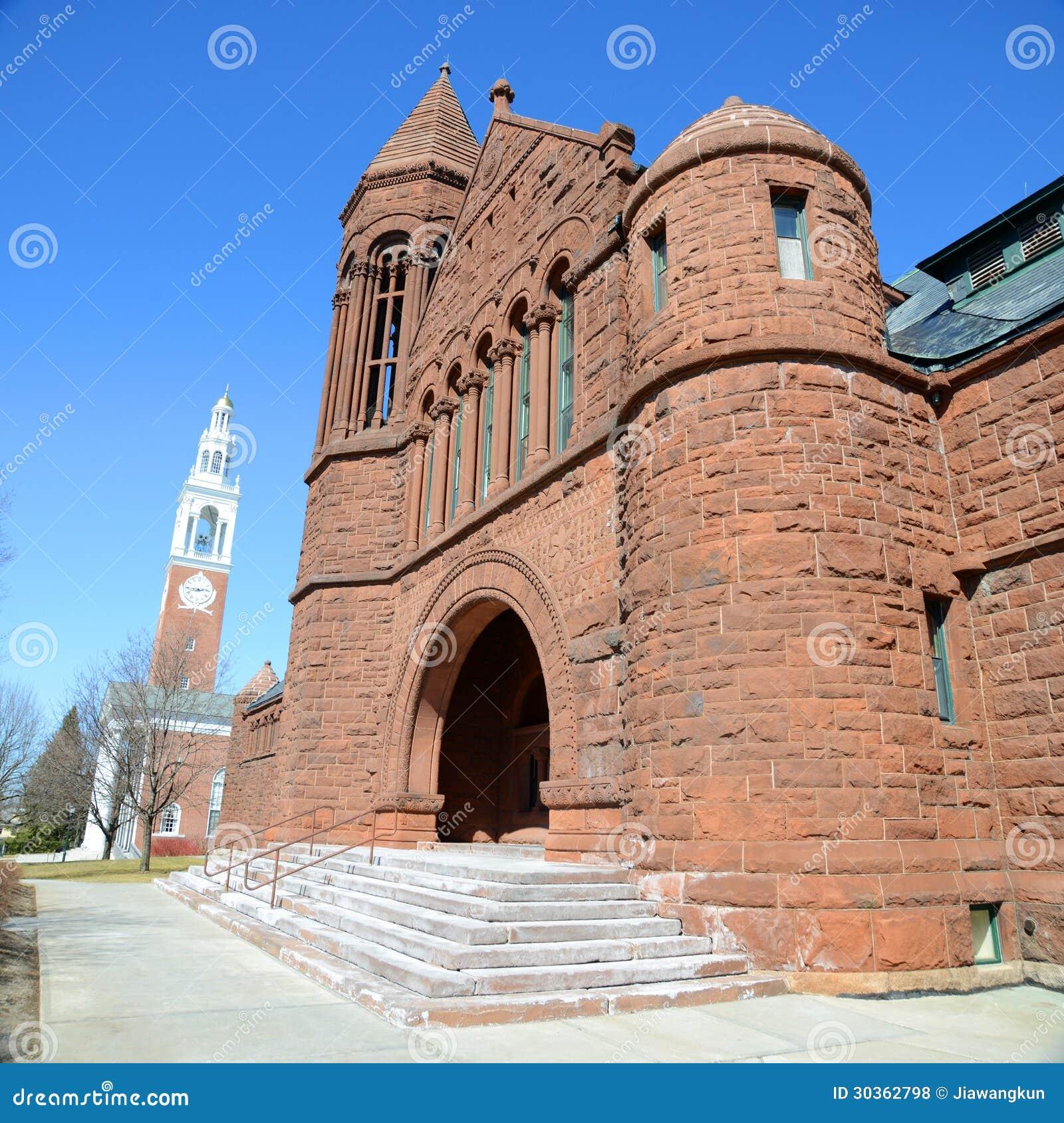 布告纪念图书馆,佛蒙特,伯灵屯的大学