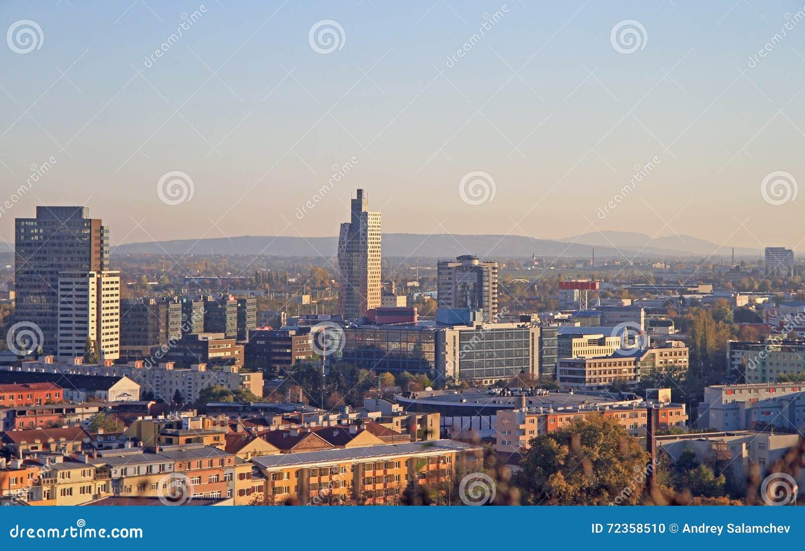 布尔诺都市风景, secong大城市在捷克