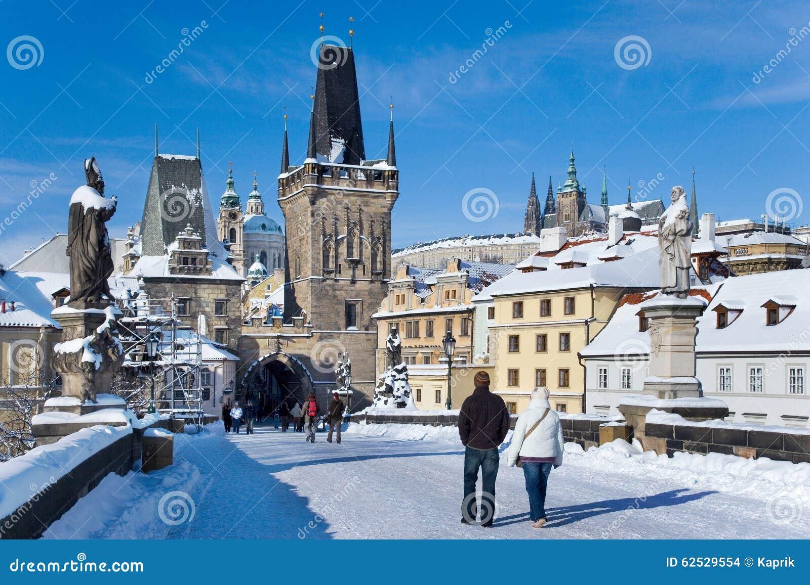 布拉格城堡和查尔斯桥梁,布拉格(联合国科教文组织),捷克共和国