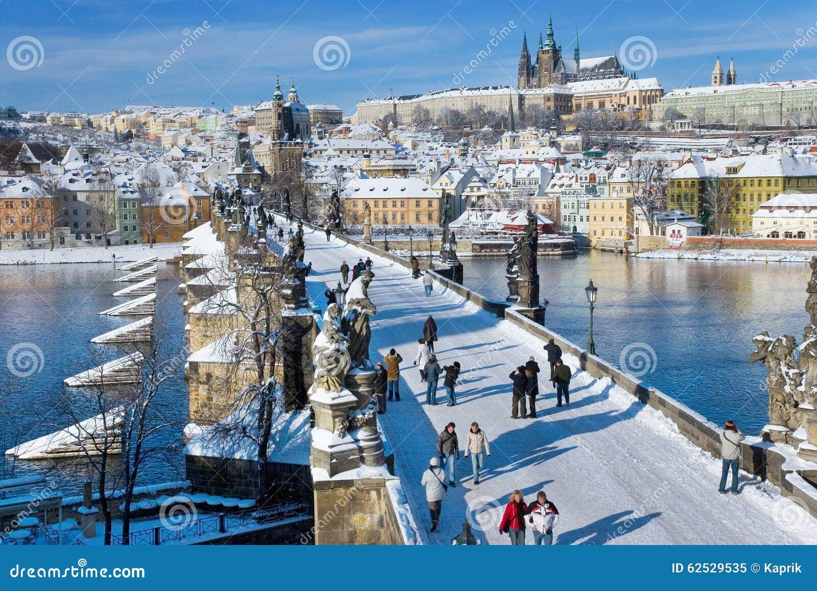 布拉格城堡和查尔斯桥梁,布拉格(联合国科教文组织),捷克republi