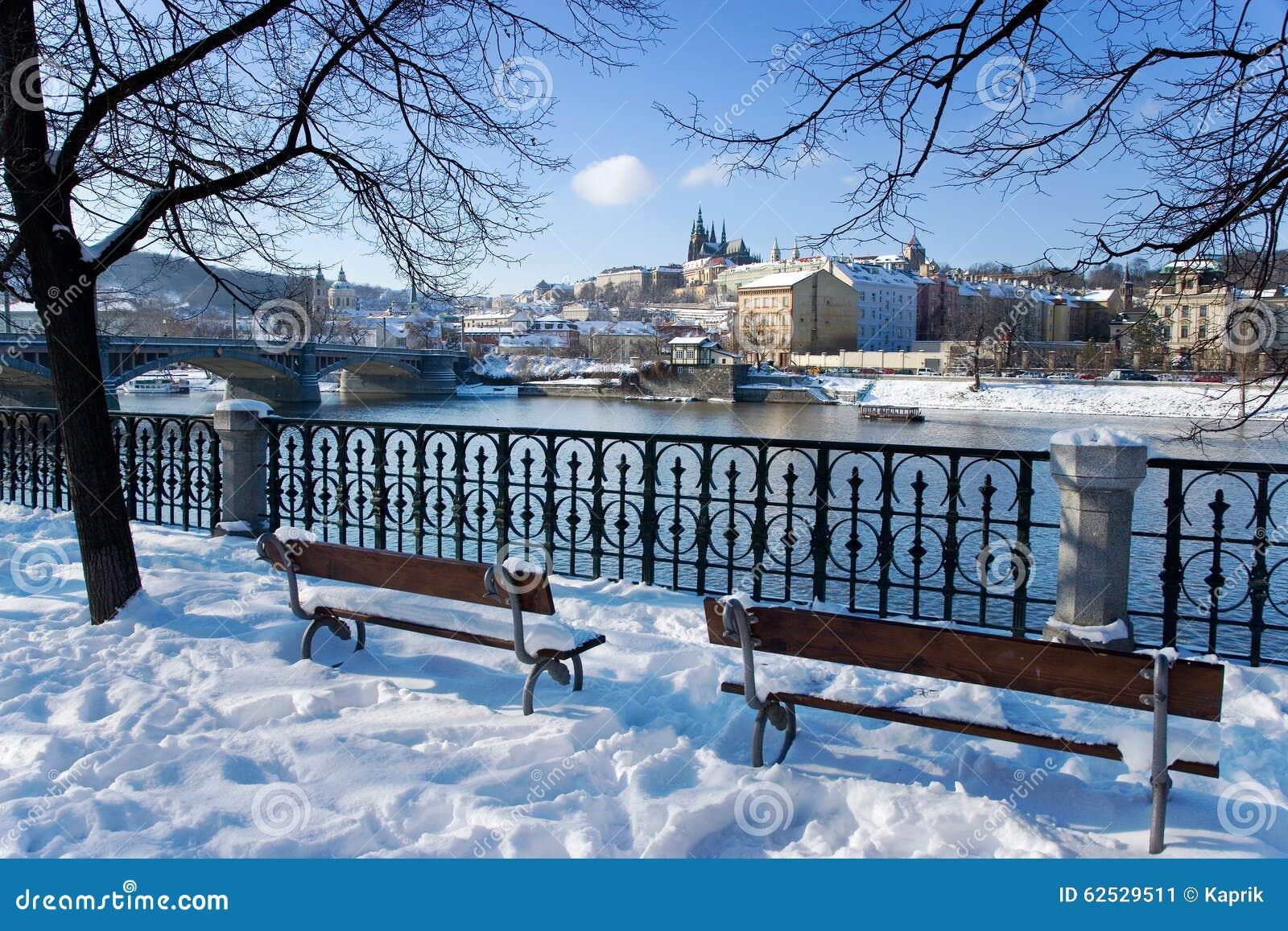 布拉格城堡和Moldau河,布拉格(联合国科教文组织),捷克共和国