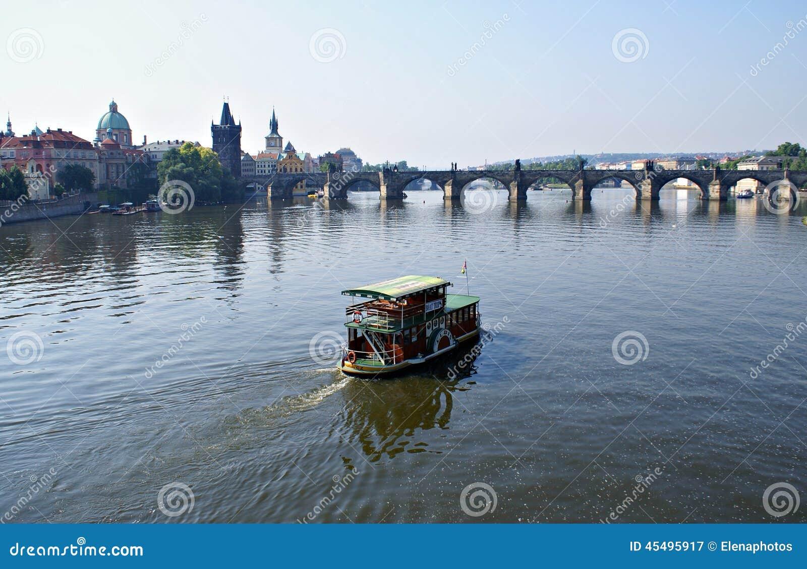 布拉格河vltava