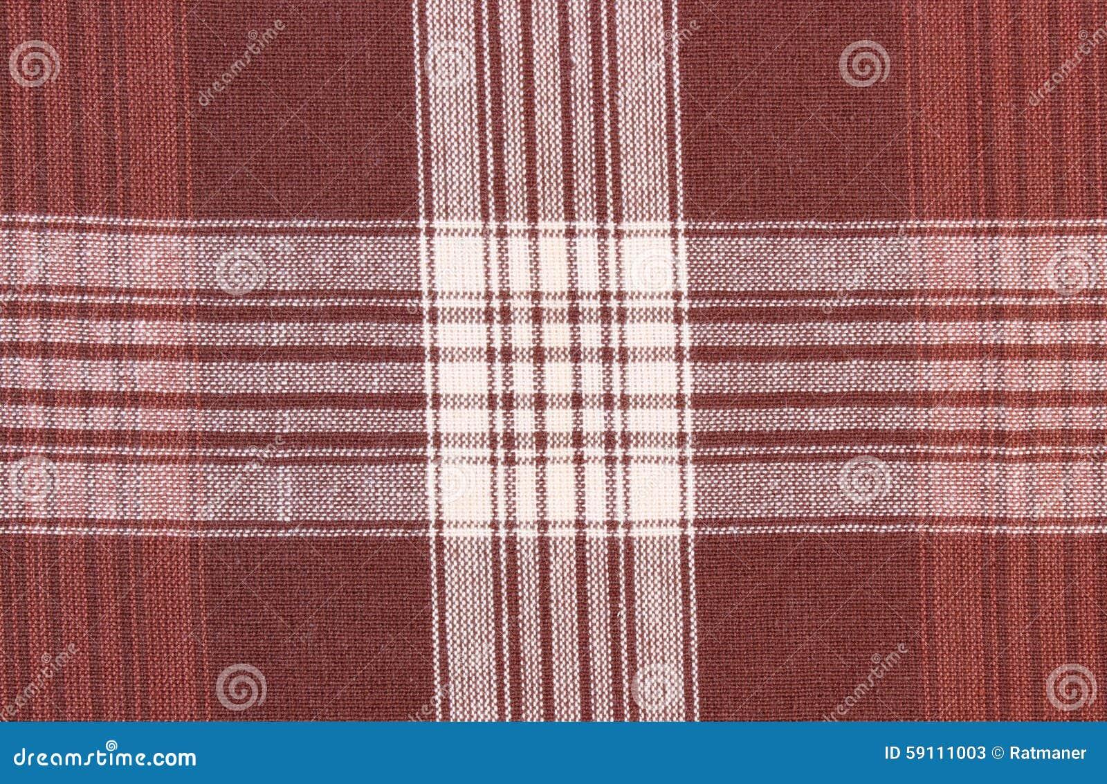 布朗和白色桌布作为背景