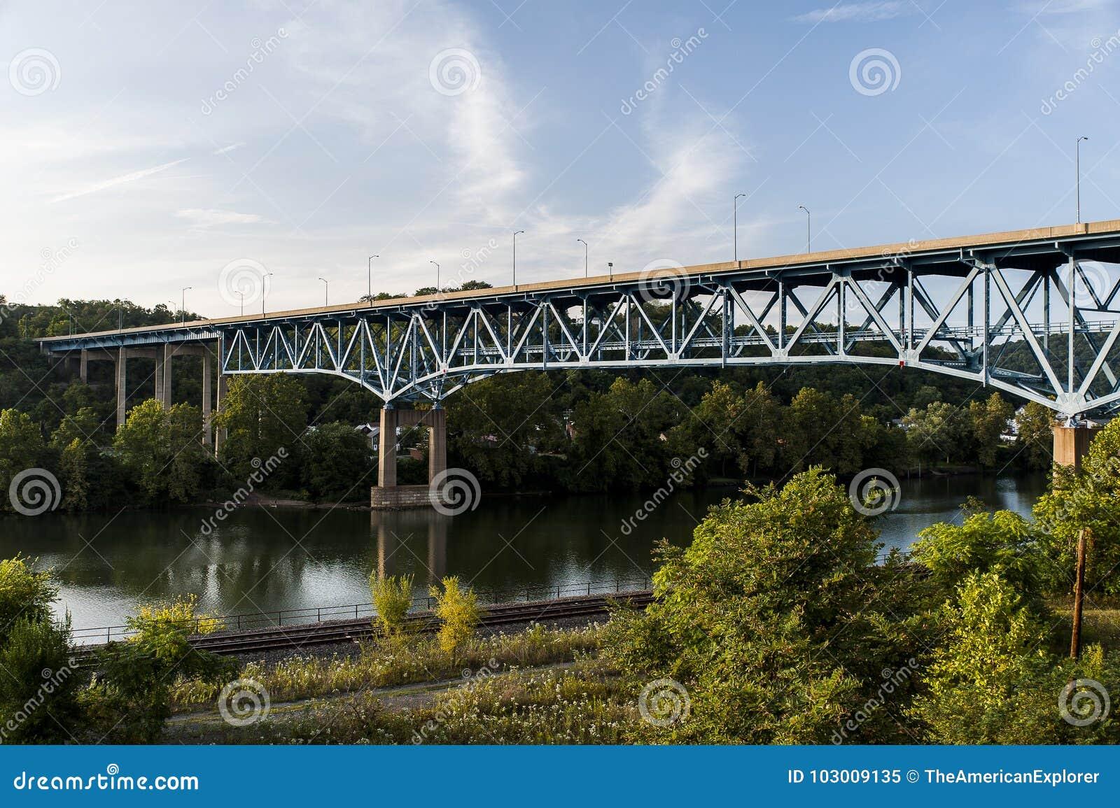 布朗斯维尔高级桥梁- Monongahela河-宾夕法尼亚