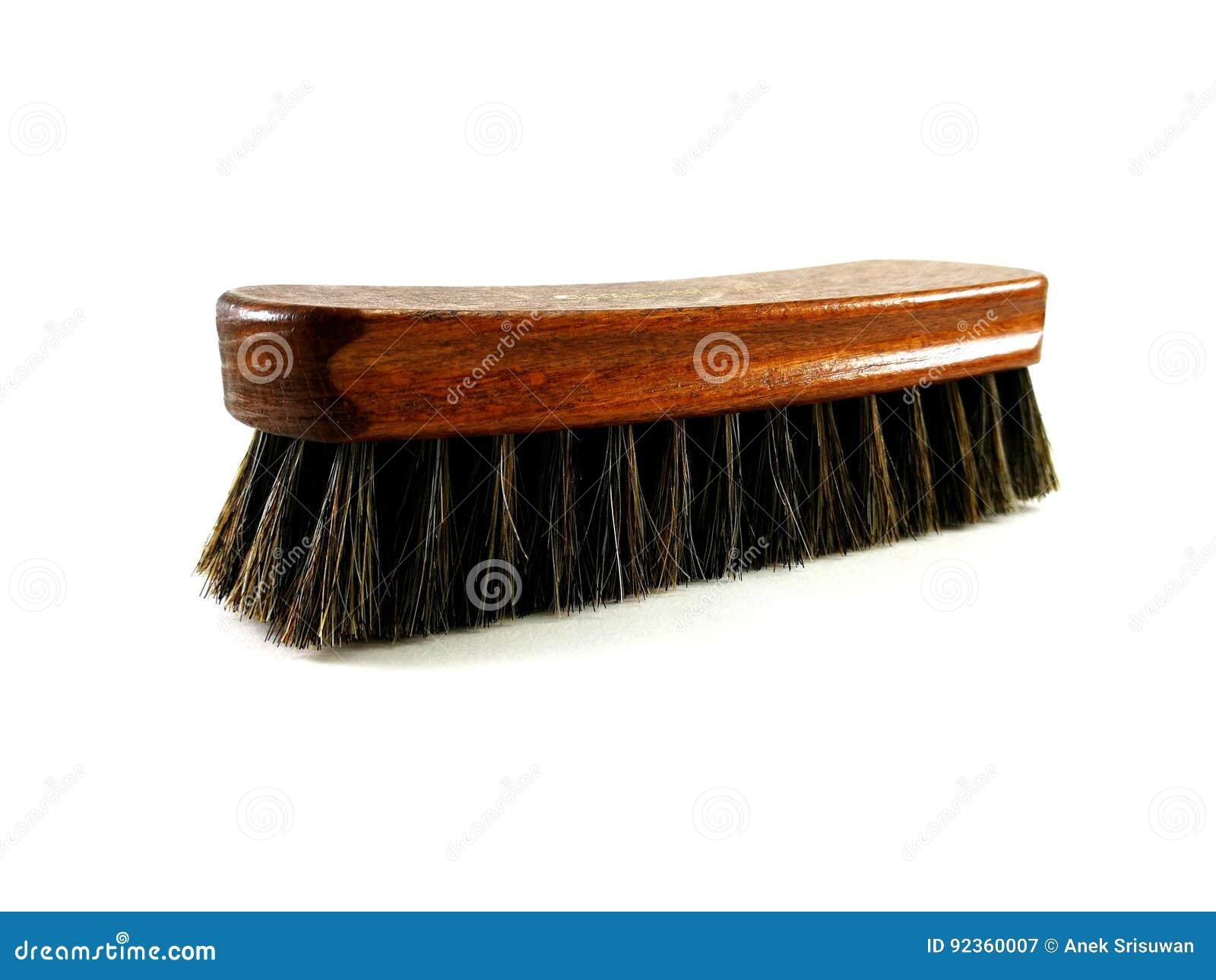 布朗清洗的马毛刷子