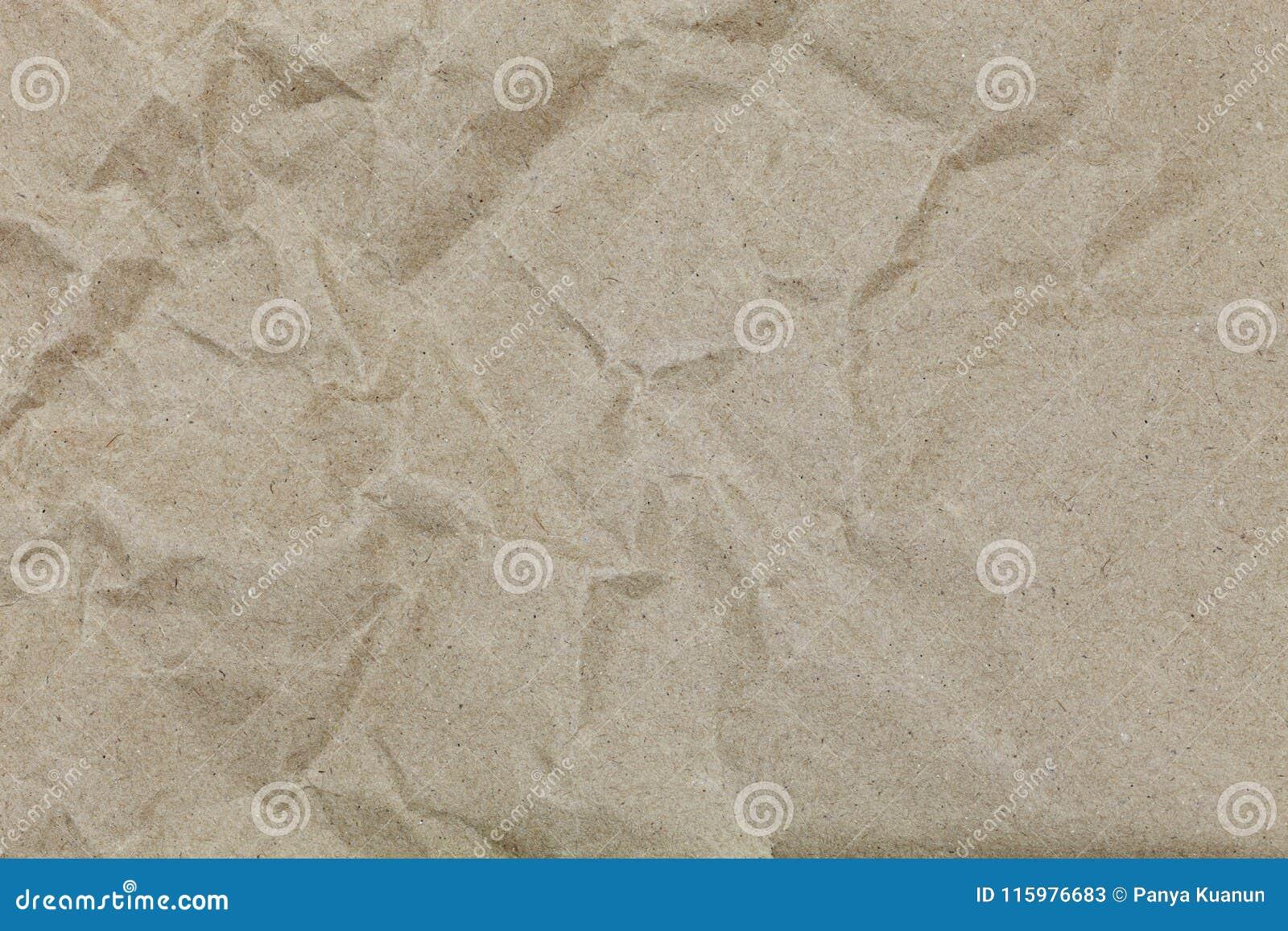 布朗皱痕回收设计和背景的纸