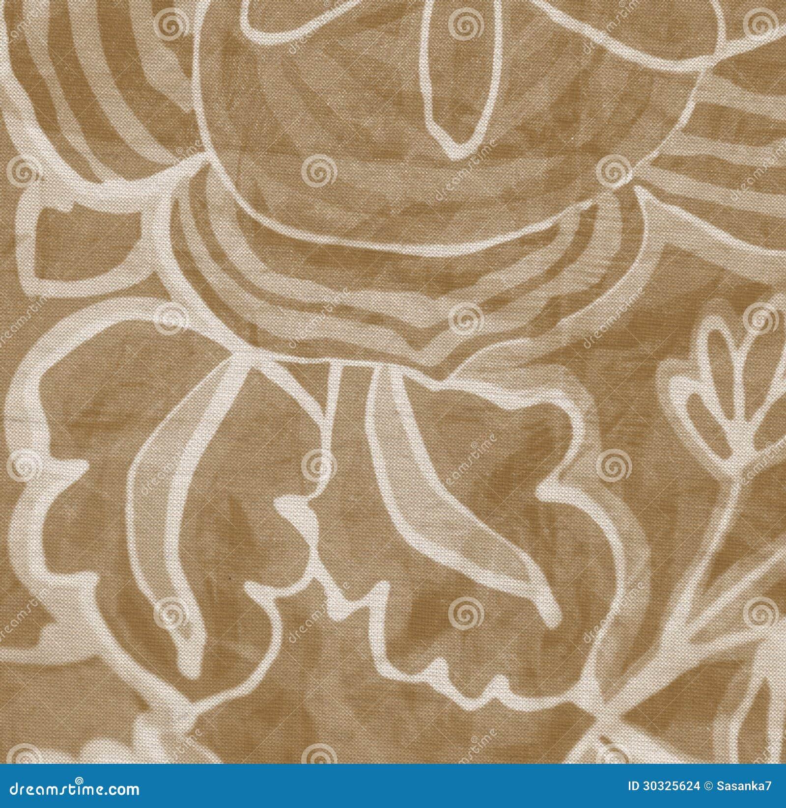 布朗花卉织品