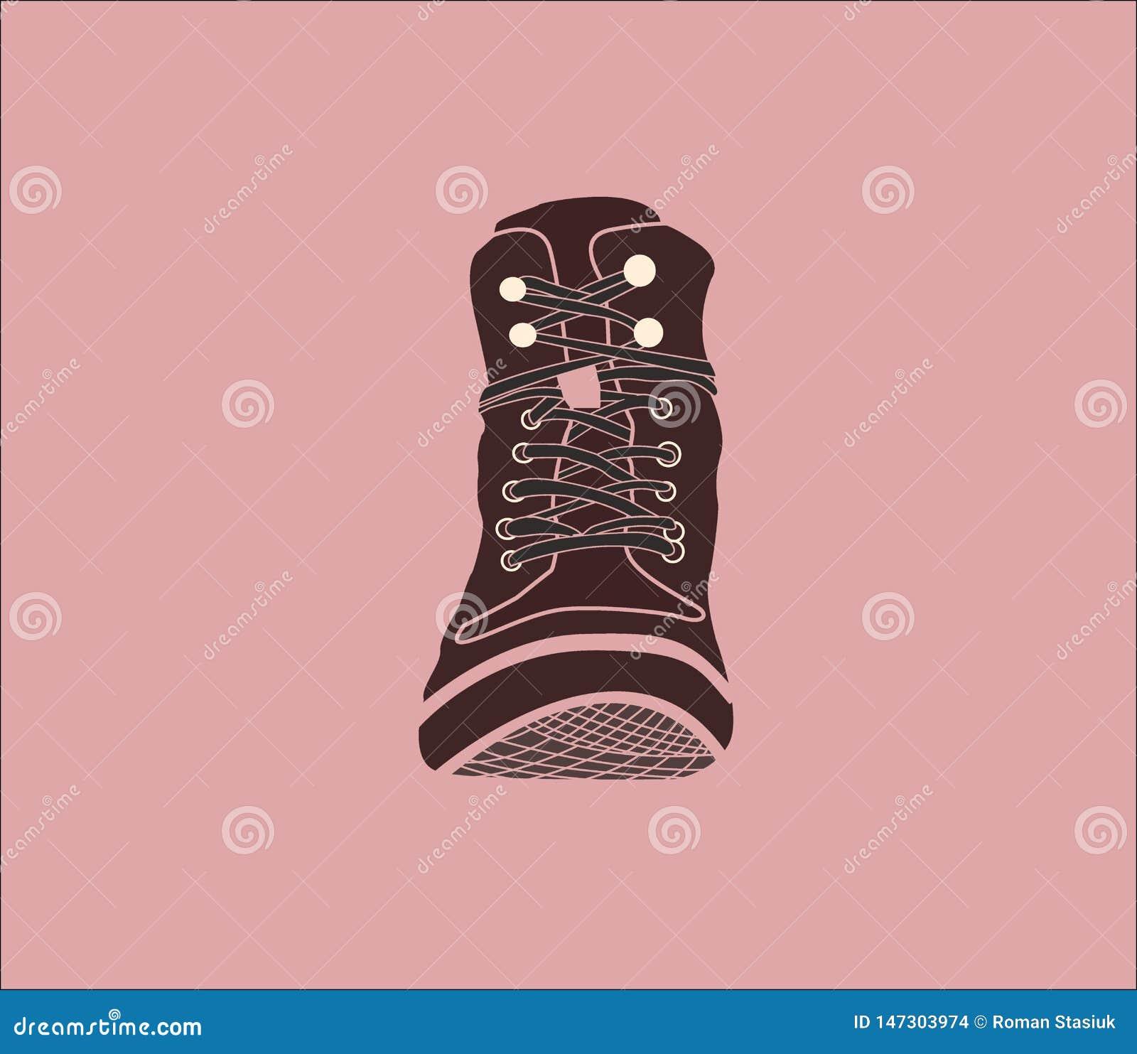 ?? 布朗起动 在桃红色背景的鞋子