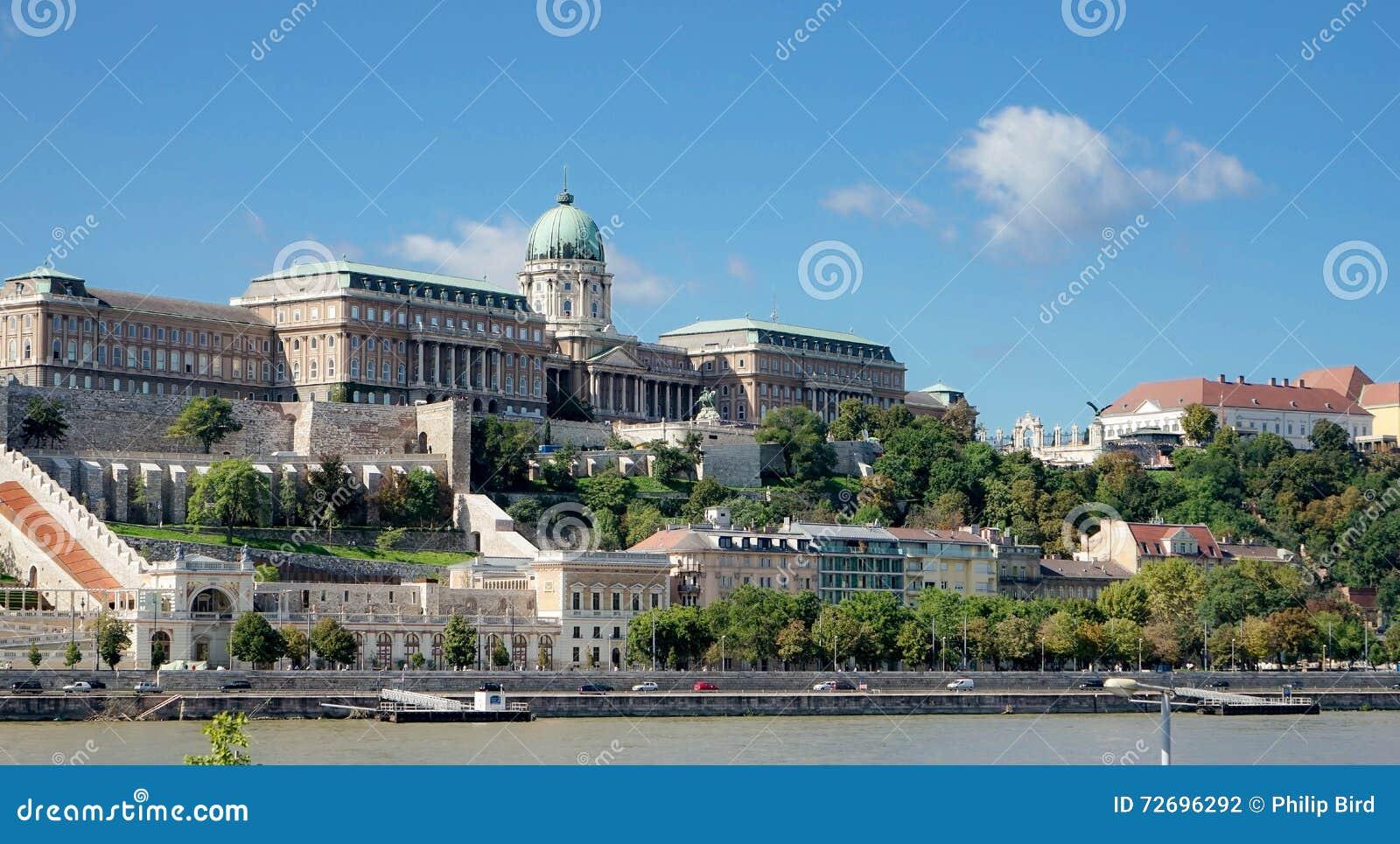 布达佩斯, HUNGARY/EUROPE - 9月21日:往Castl的看法