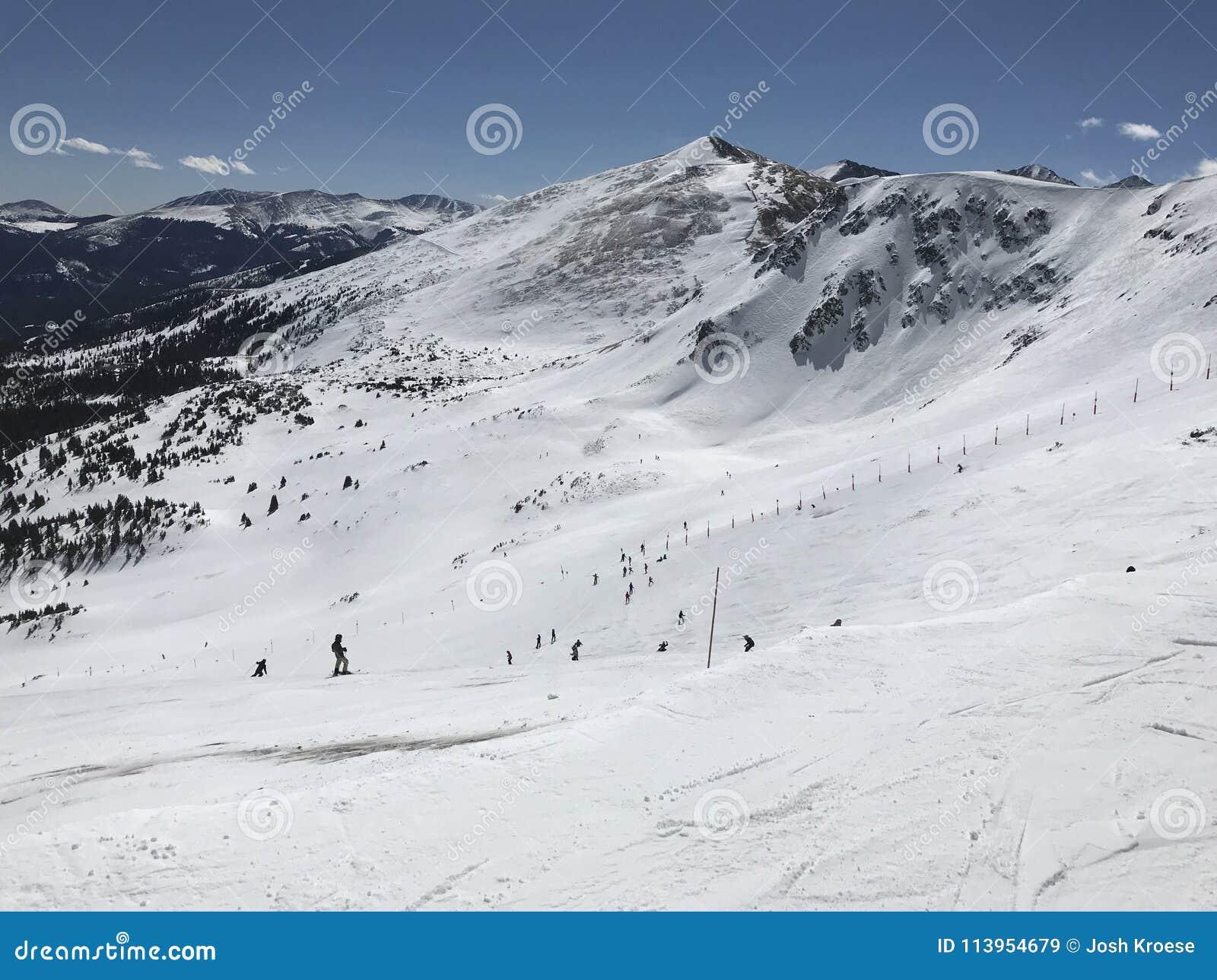 布雷肯里奇滑雪看法从上面倾斜