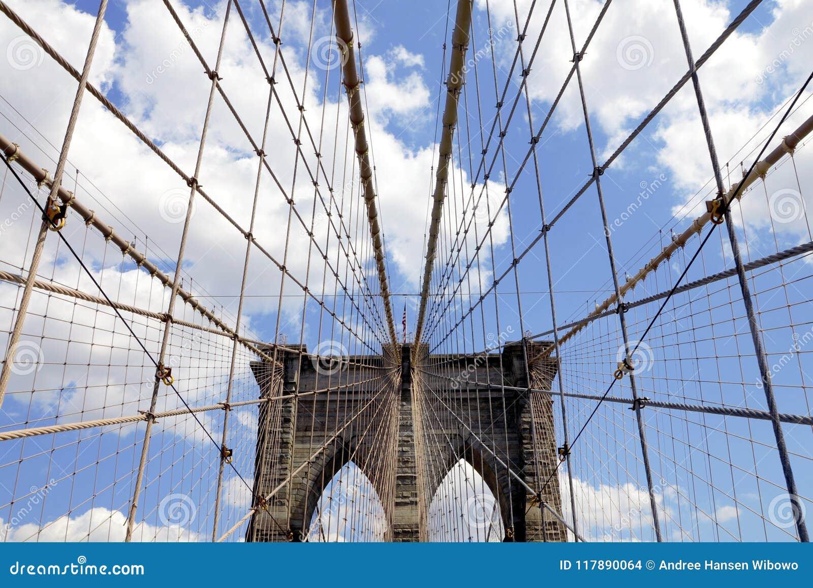 布鲁克林大桥的测深索