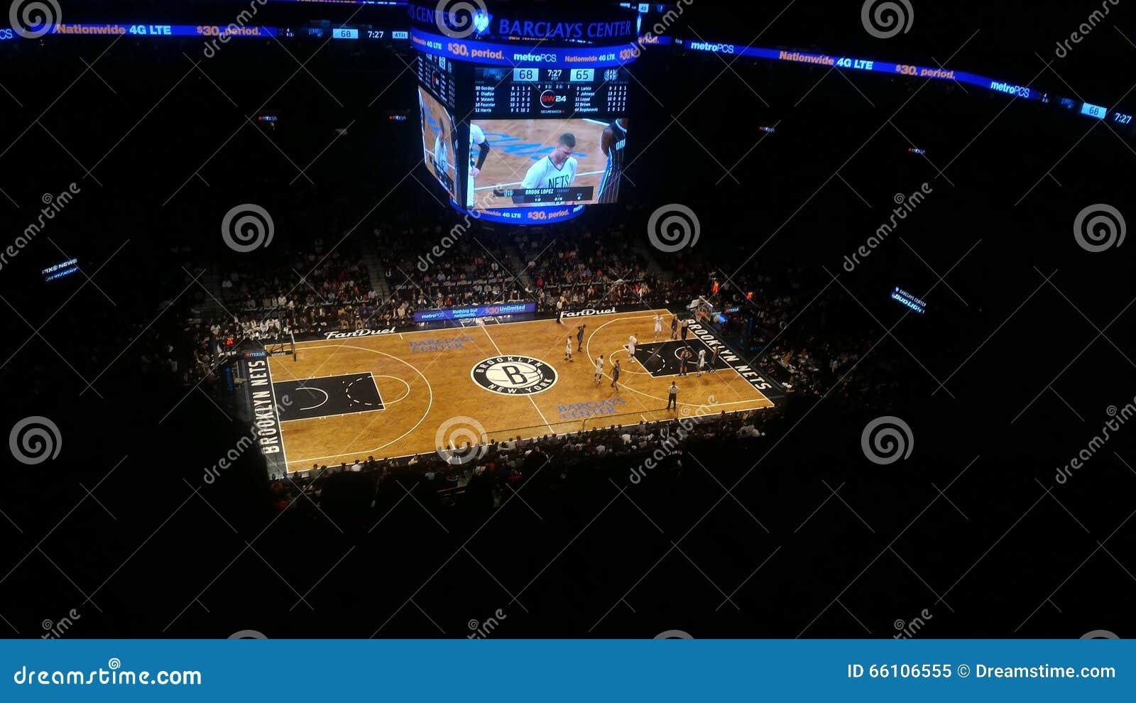 布鲁克林得到篮球比赛