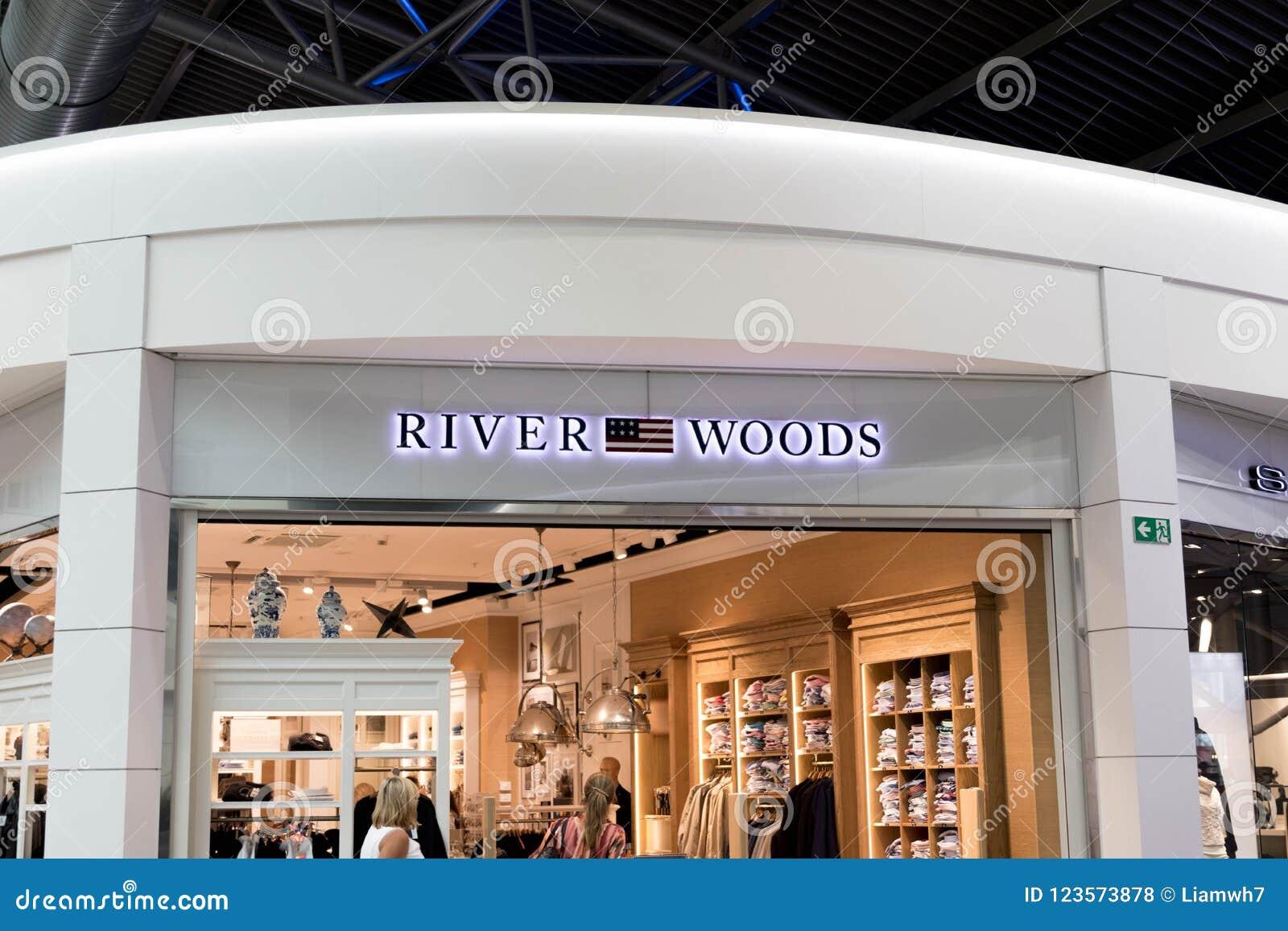 布鲁塞尔/比利时09 08 18 :河森林衣物线商标牌比利时