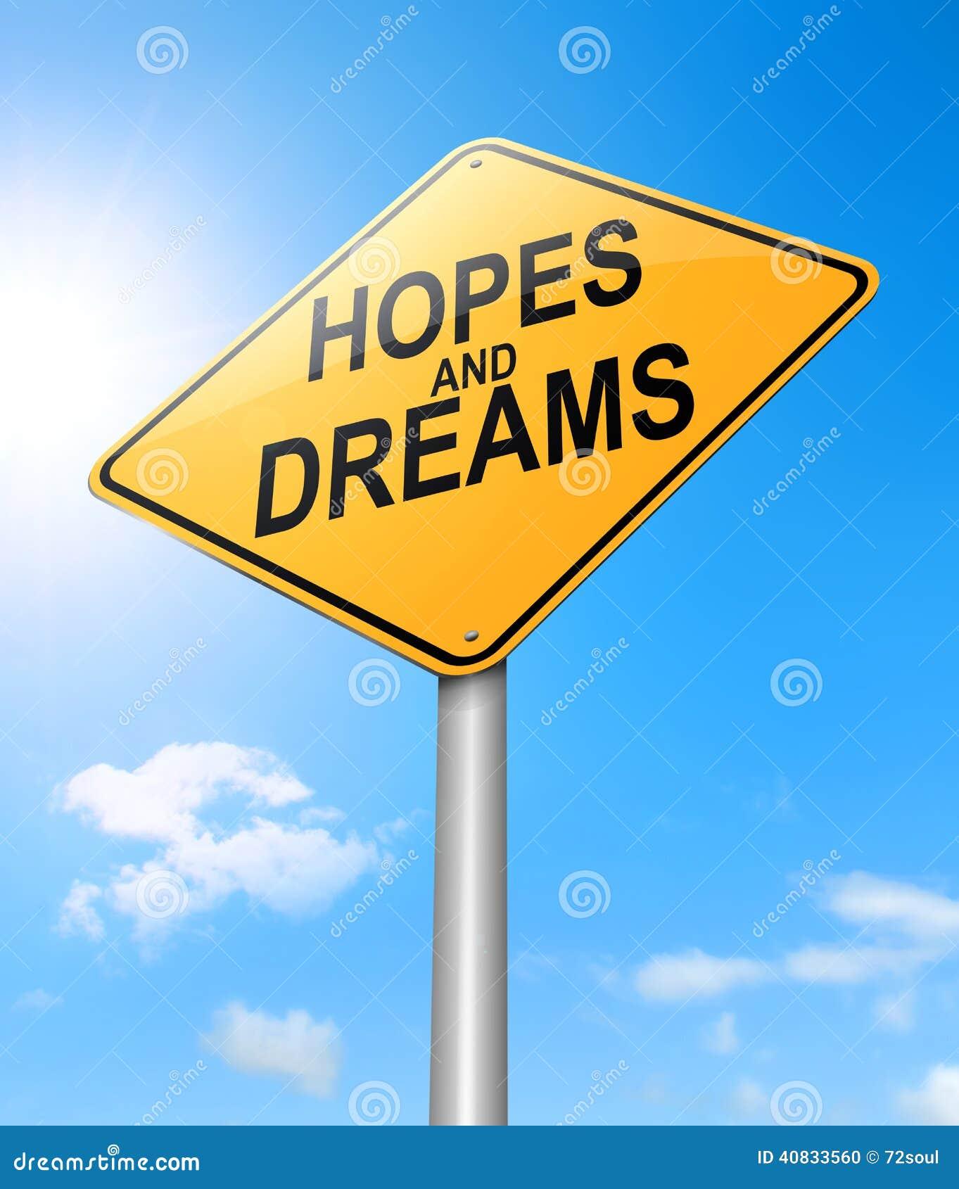 希望和梦想概念