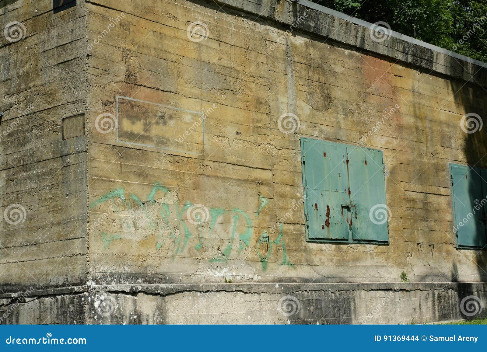 希特勒地堡在马尔吉瓦勒,埃纳省,在法国的北部的Picardie
