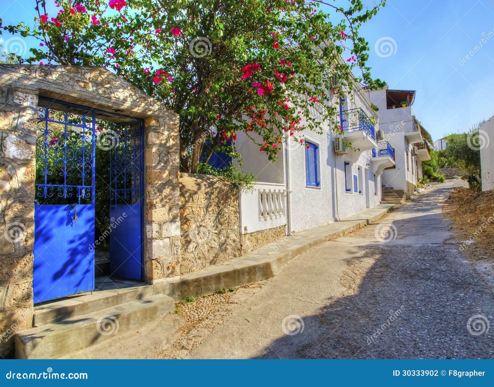希腊海岛胡同
