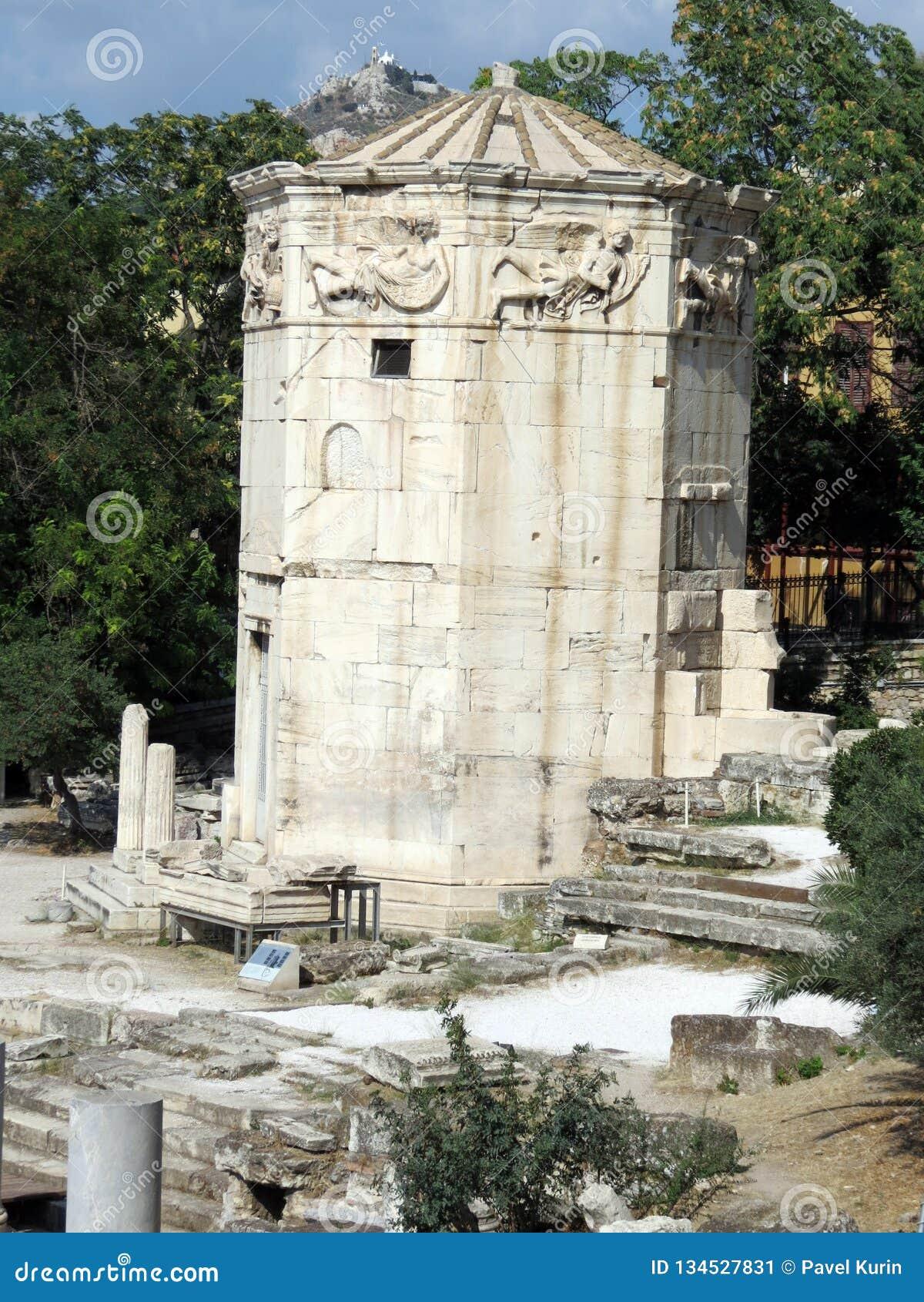 希腊,雅典,古老水塔