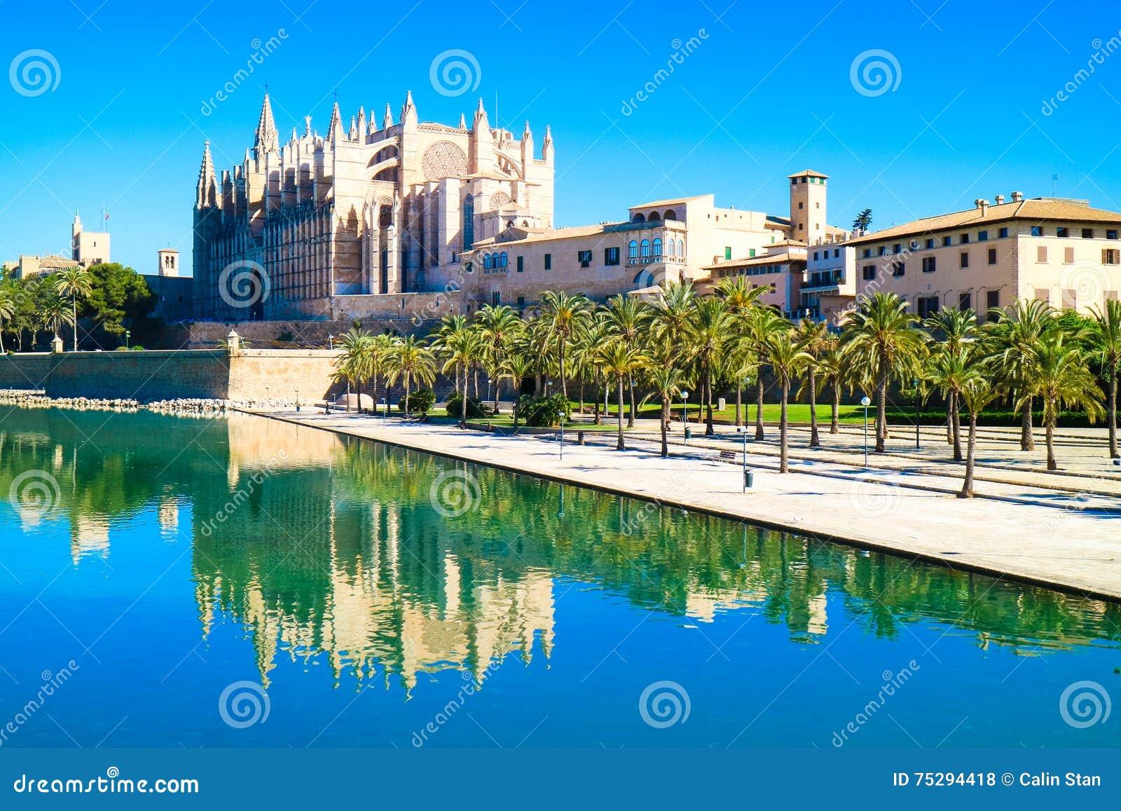 帕尔马,西班牙 La Seu -著名中世纪哥特式加州