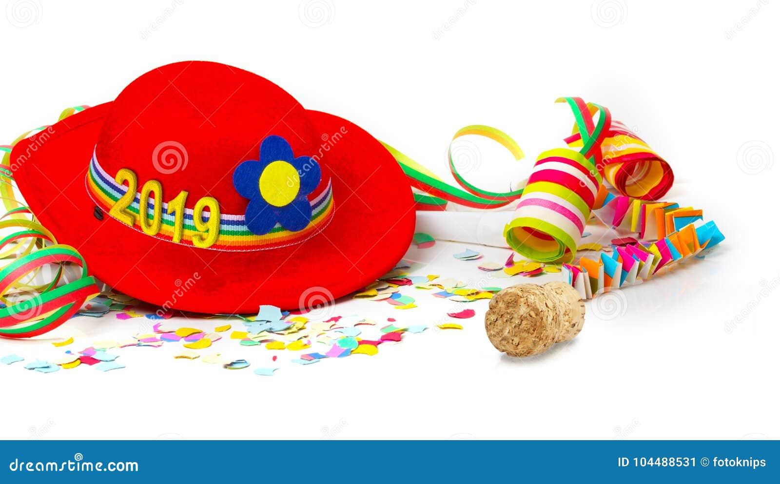 帽子与2019年,与香宾黄柏的装饰