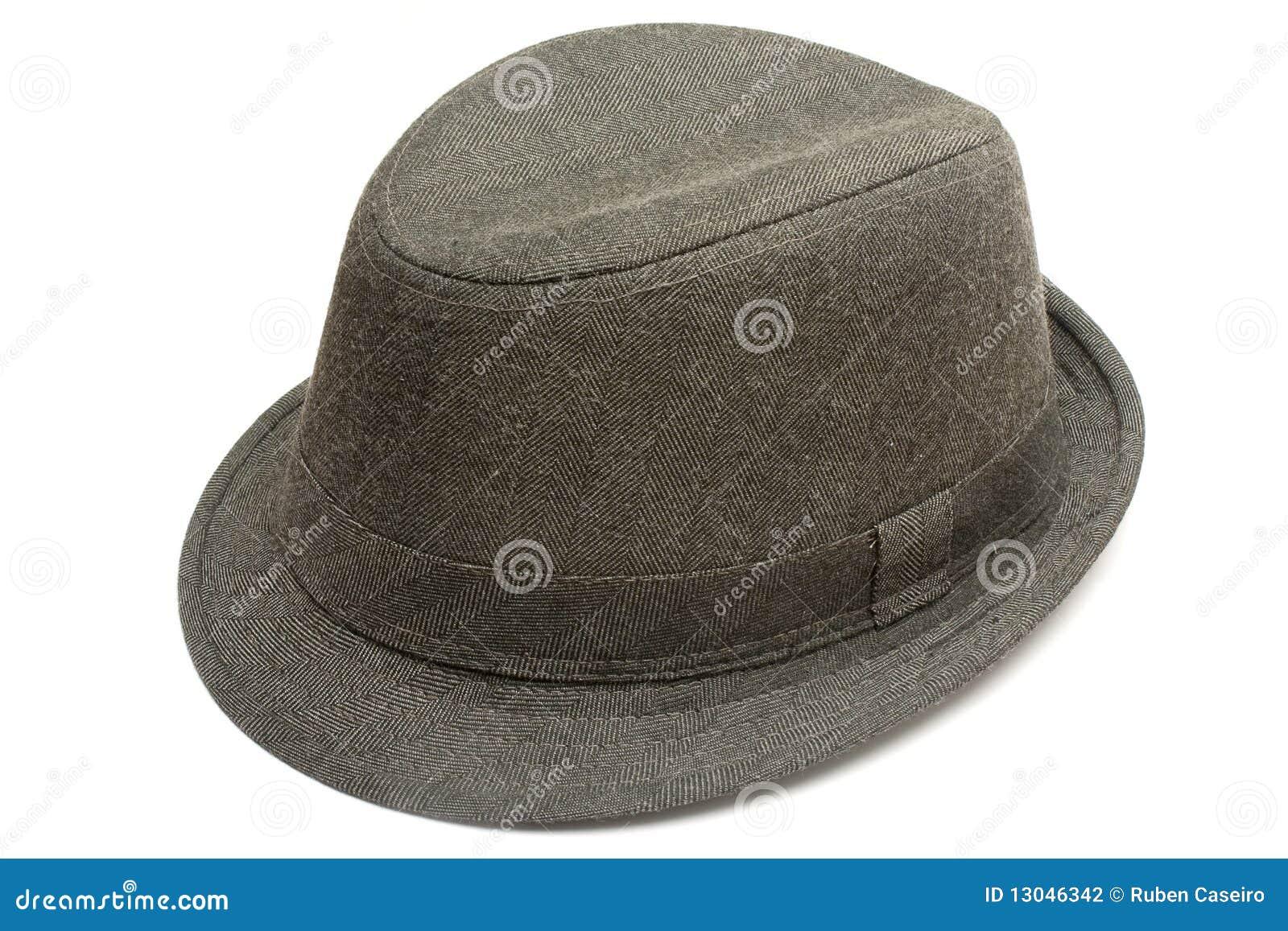 查出的黑暗的牛仔布fashin帽子做一白色.图片