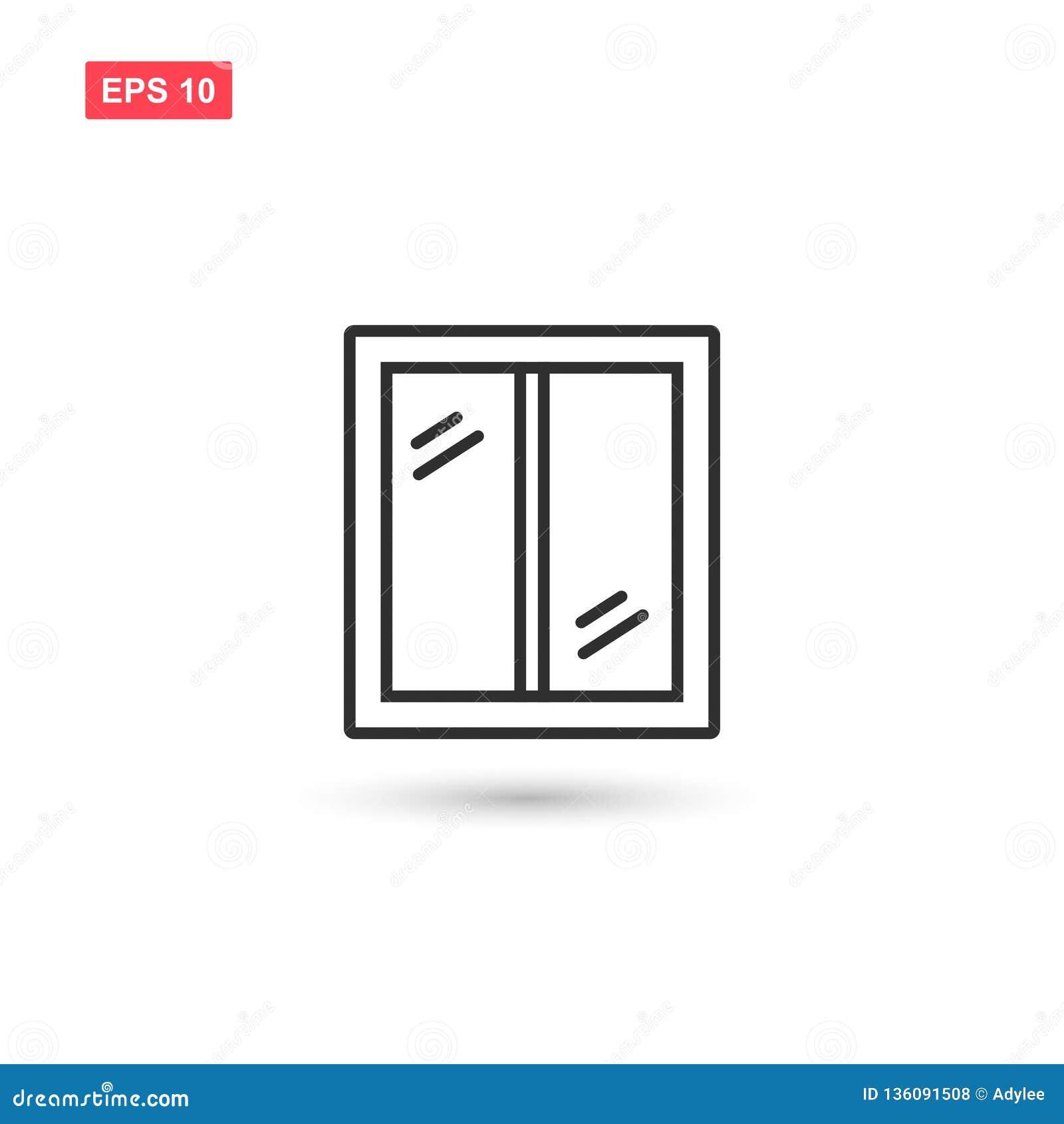 干净的窗口传染媒介象设计隔绝了