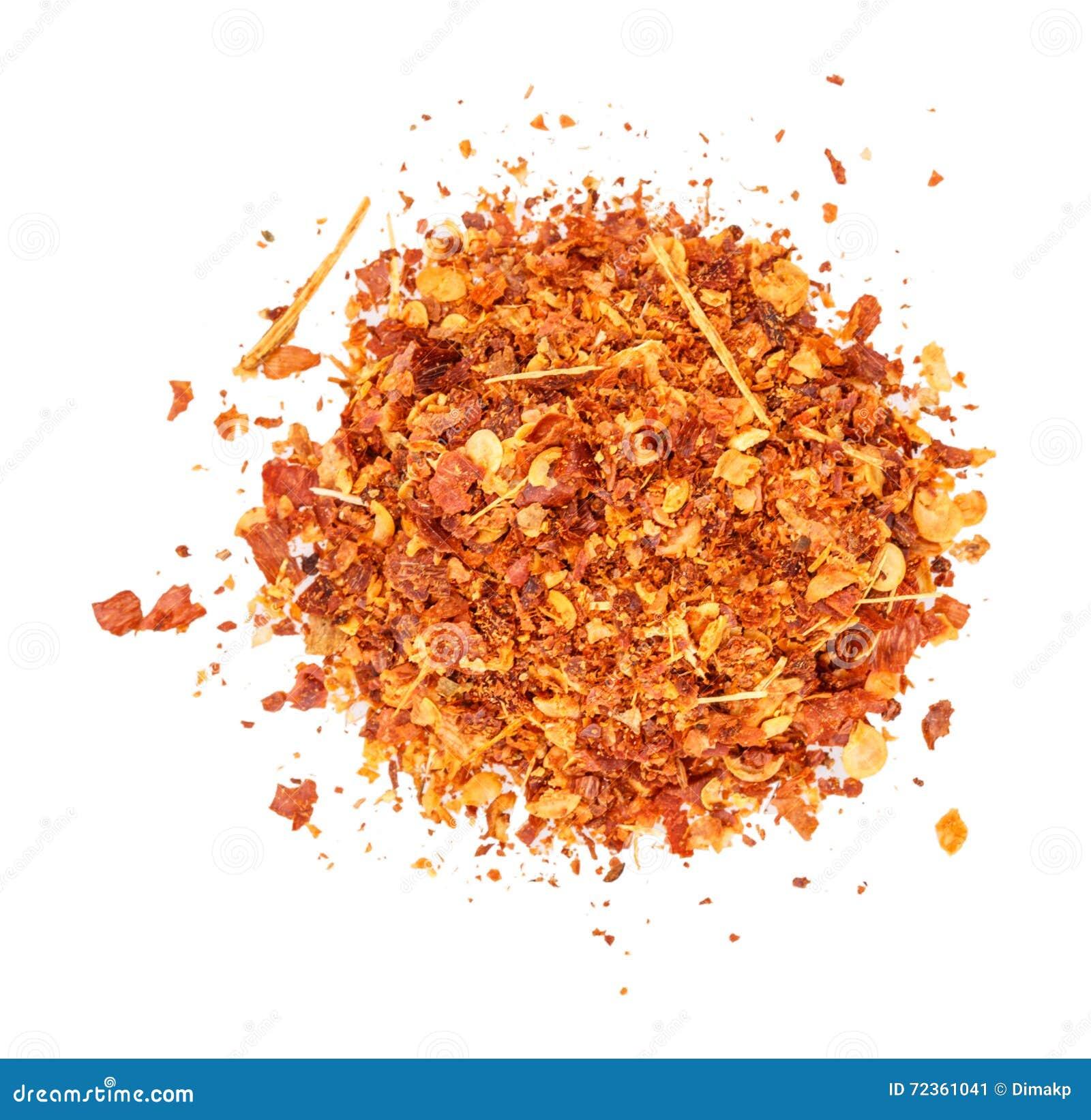 干燥胡椒的辣椒粉