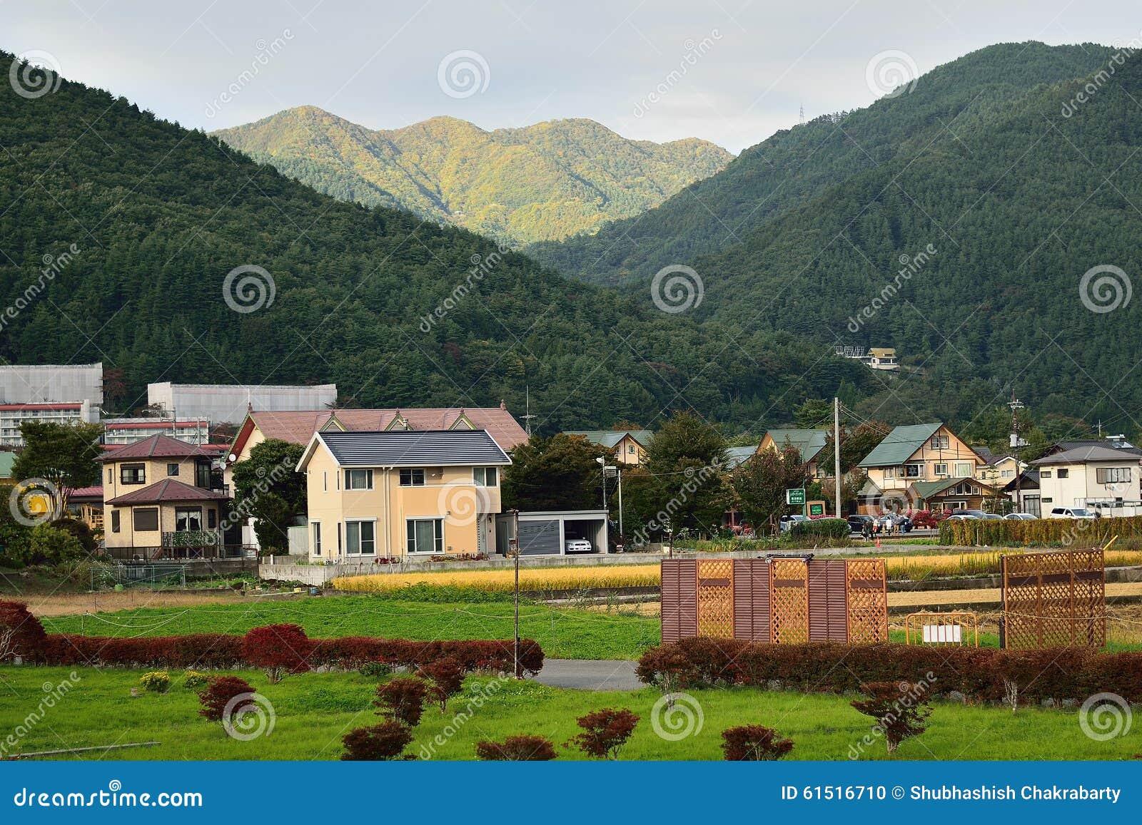 日本风景_平安的日本农村风景