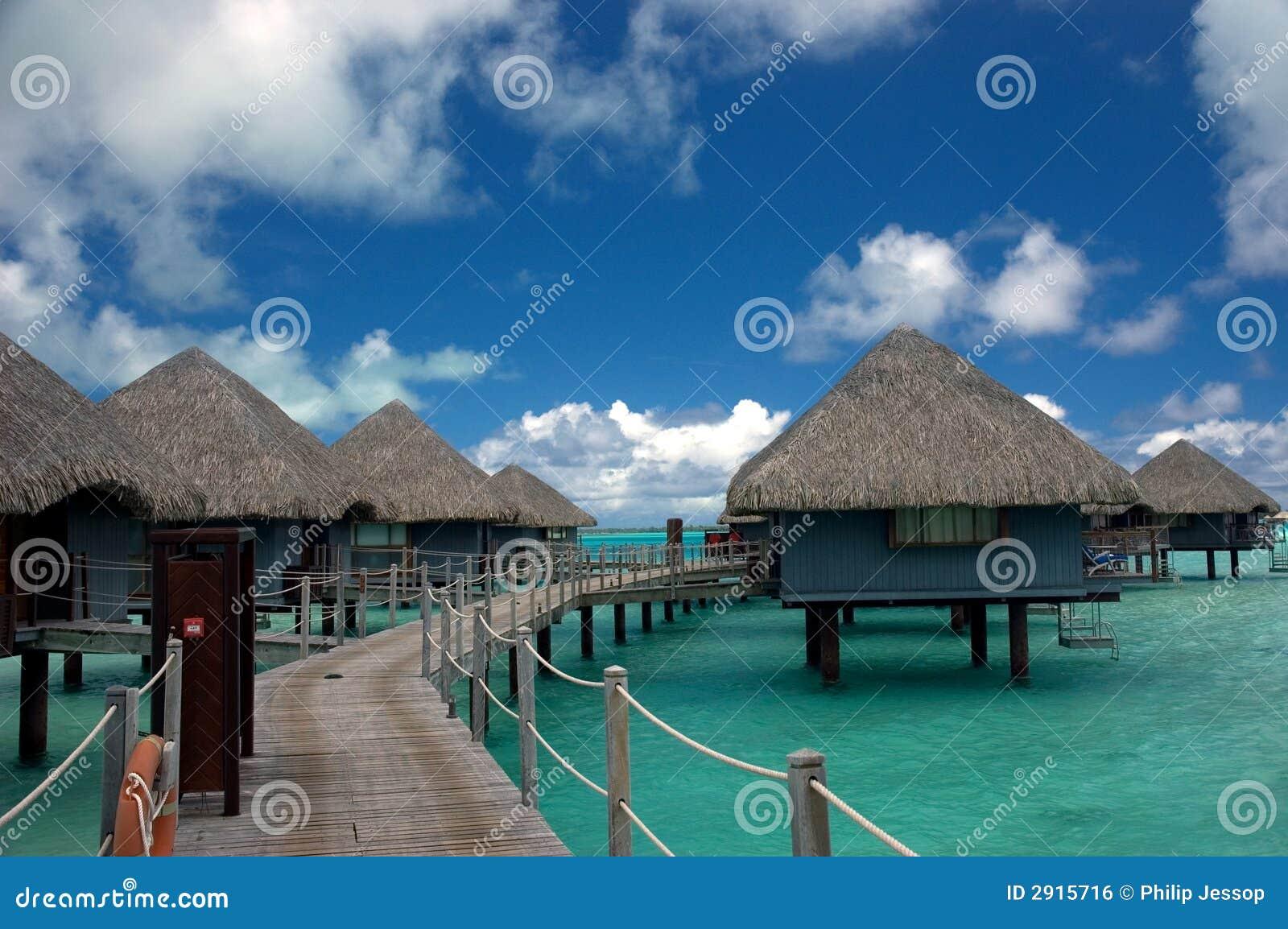 平房overwater塔希提岛