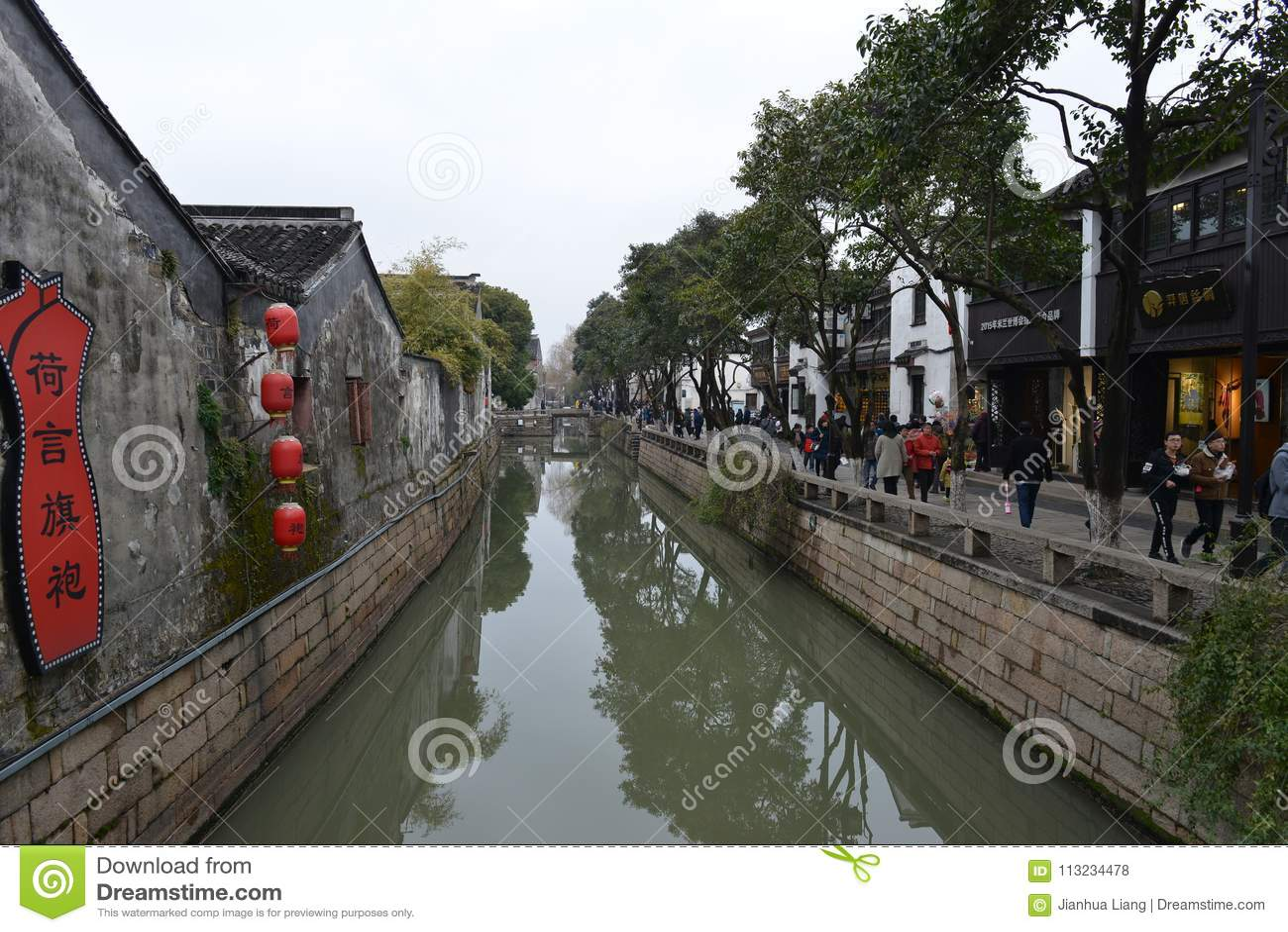 平江路在苏州,江苏,中国