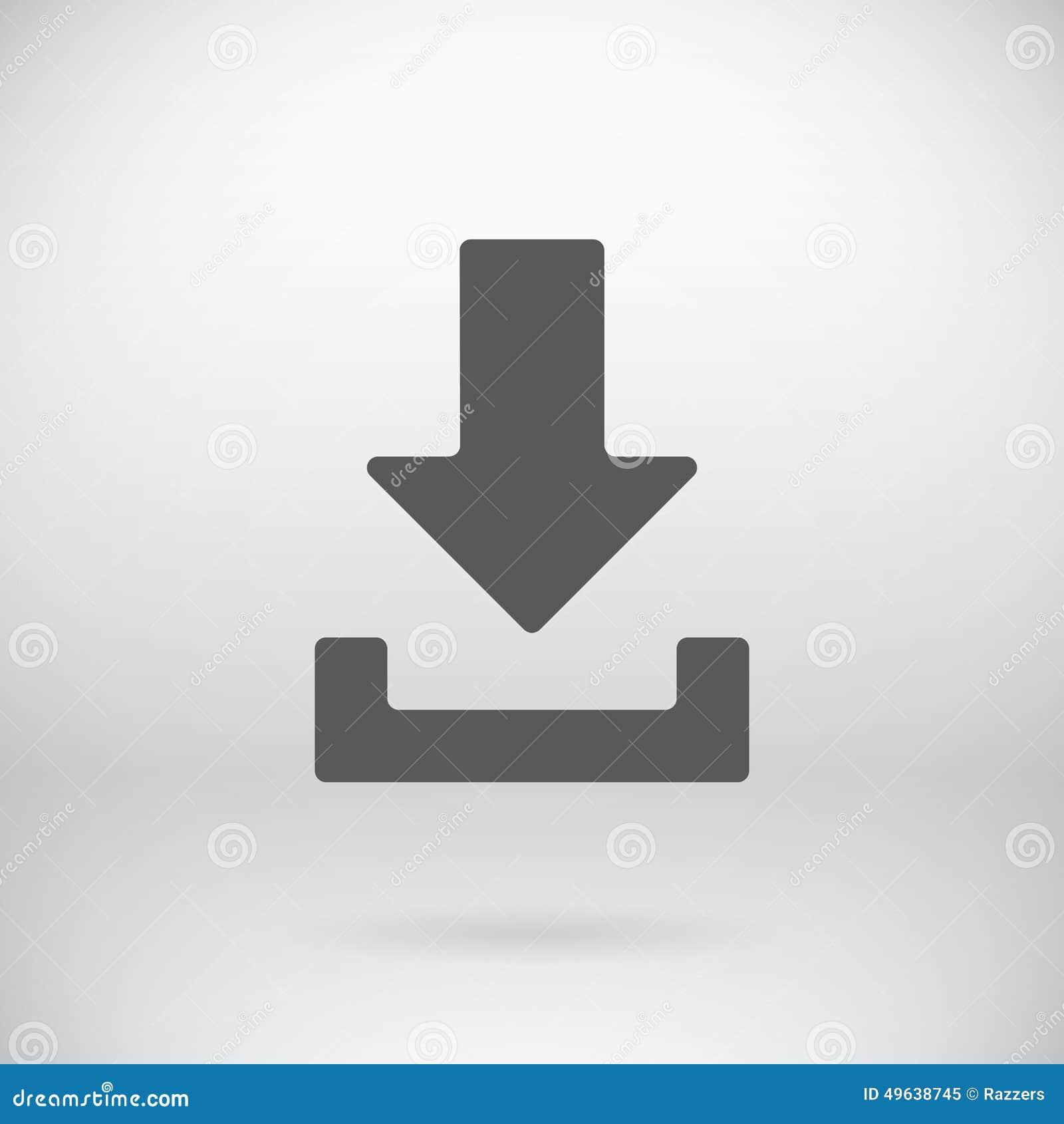 平的下载加载象传染媒介装载标志