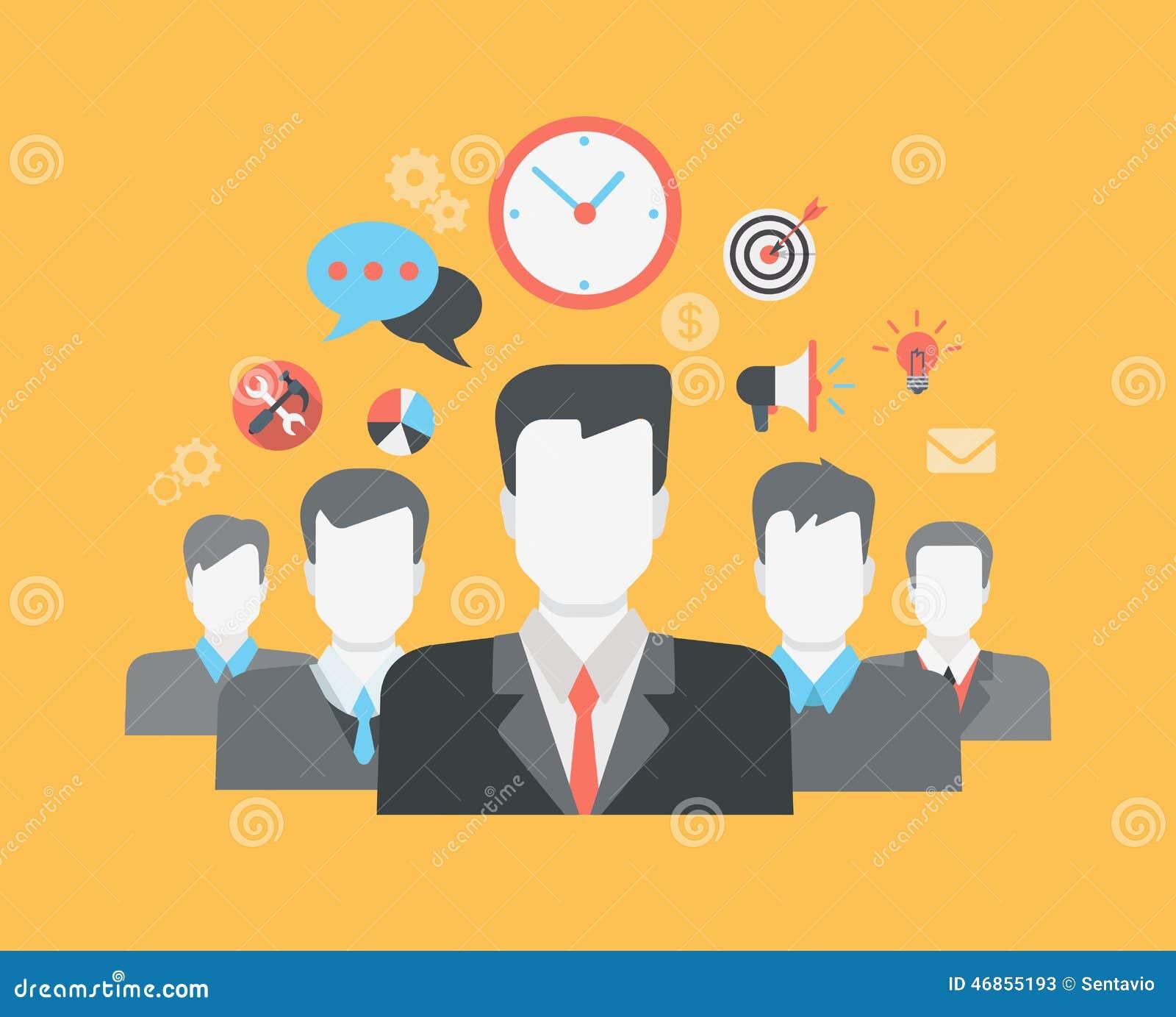 平的样式现代网infographic人际关系HR概念