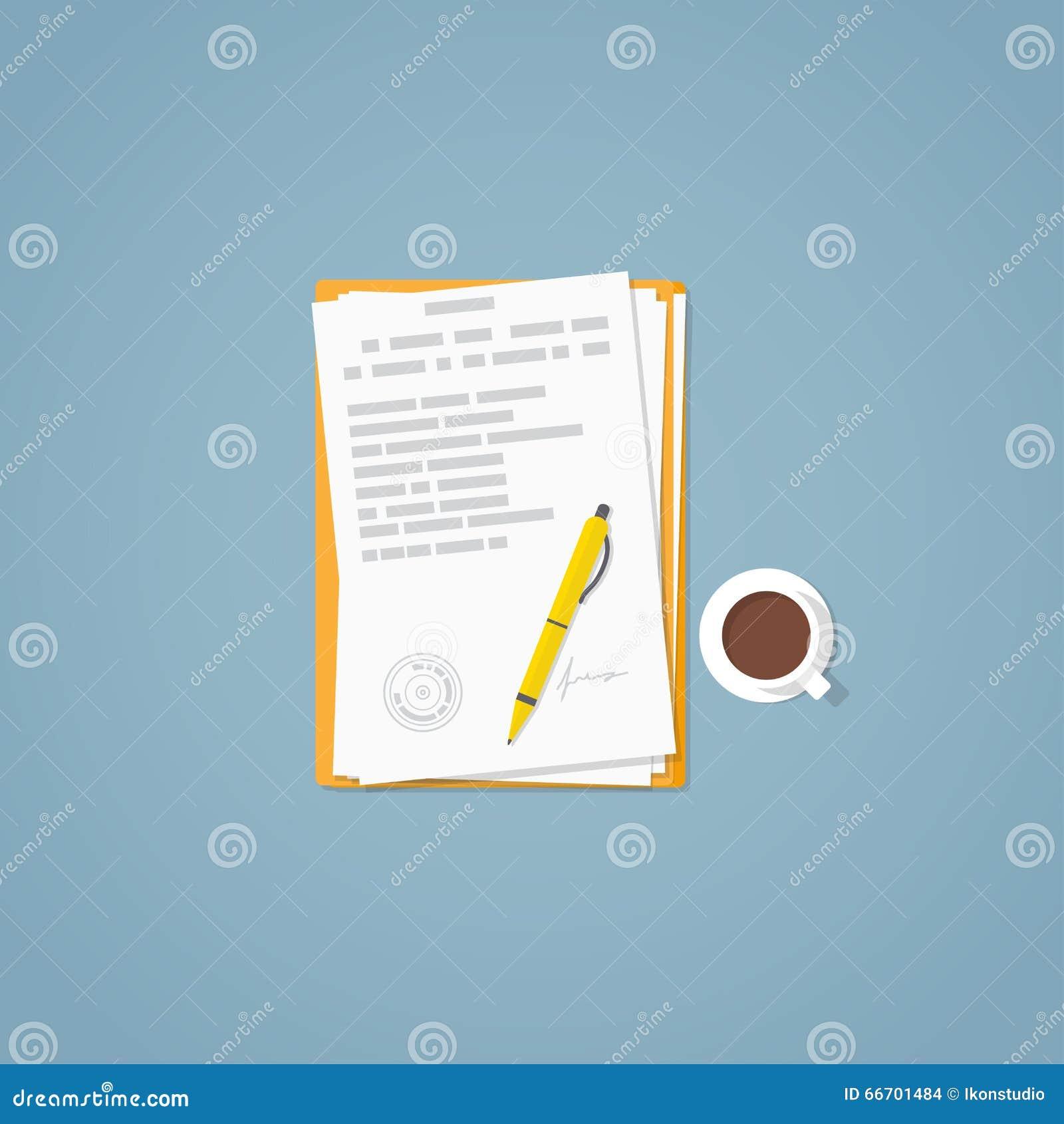 平的纸张文件