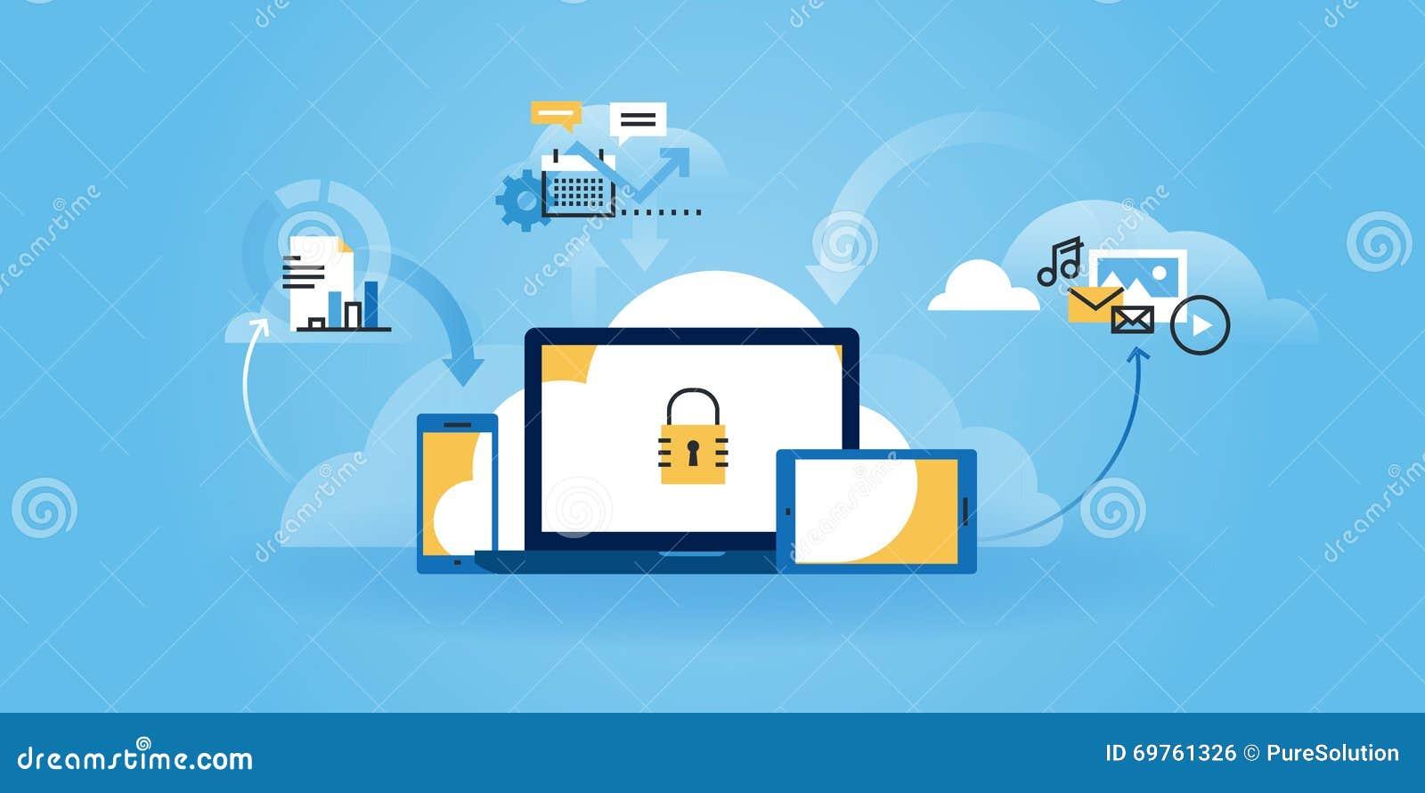 网站_平的线设计互联网安全网站横幅