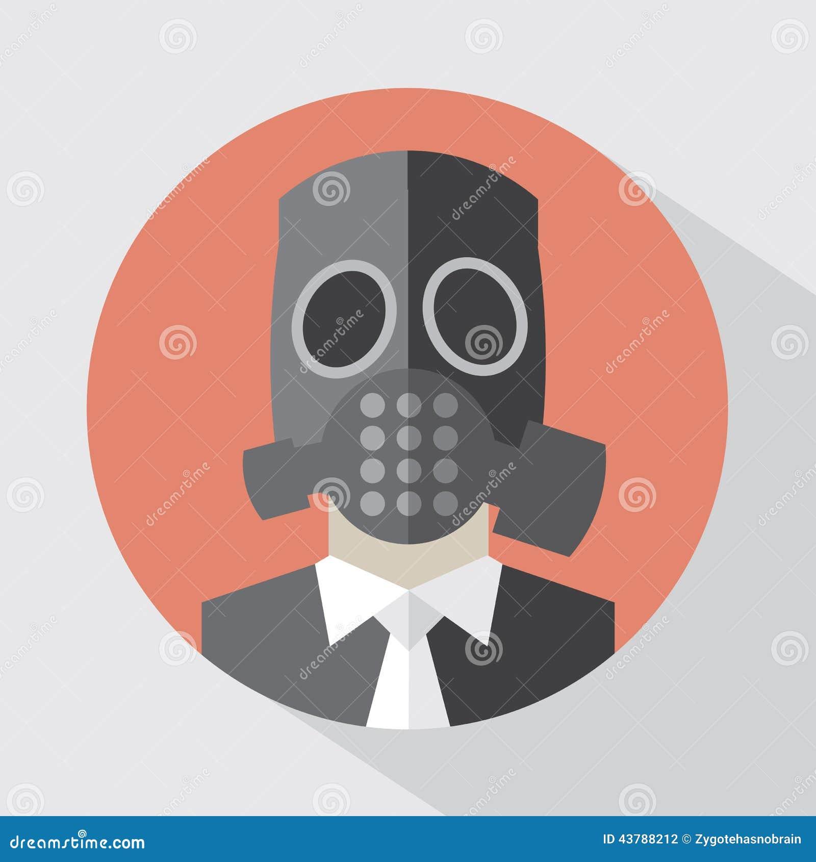 平的设计毒气面具