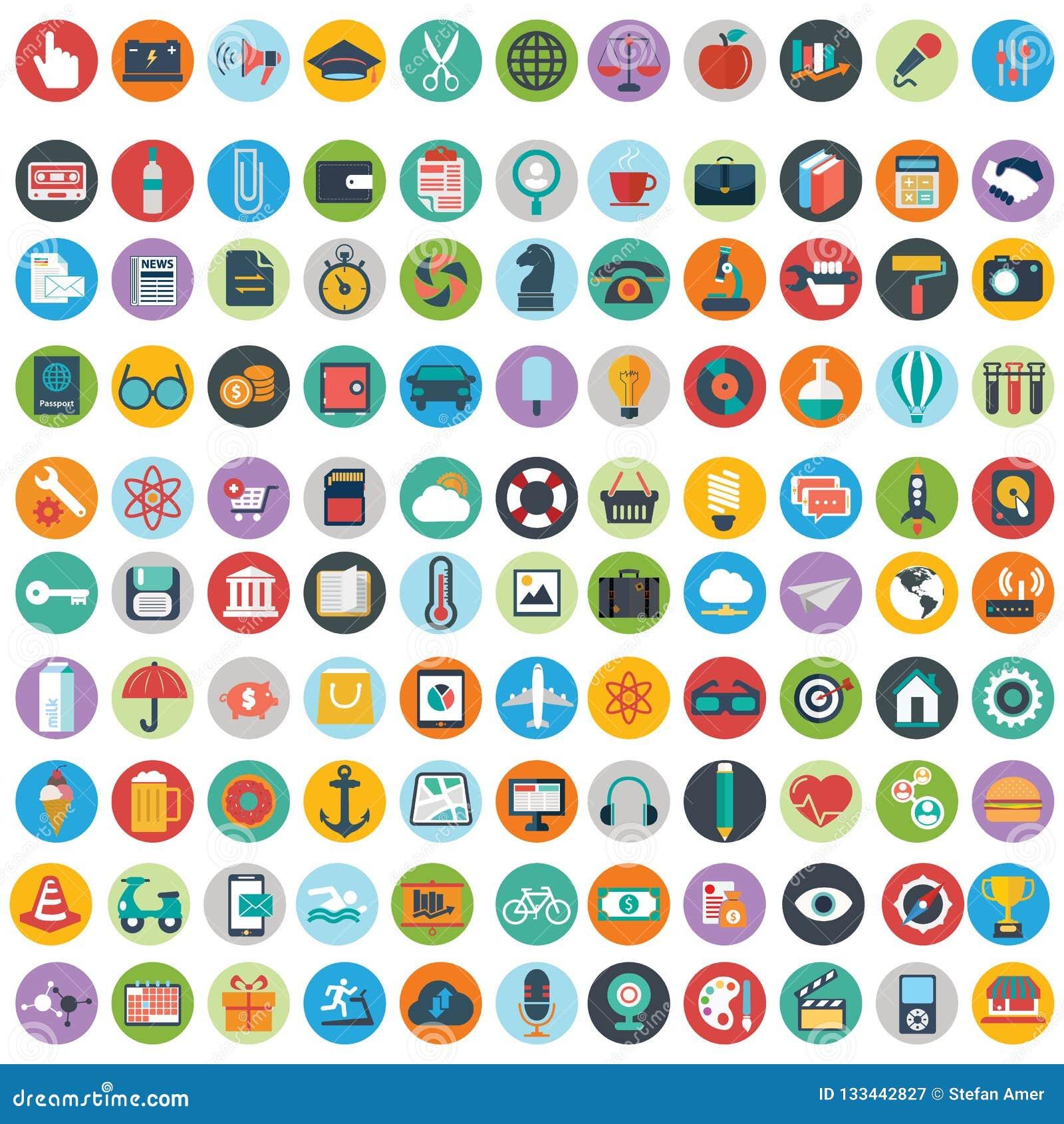 平的象设计现代传染媒介例证大套各种各样的金融服务项目、网和技术开发,事务