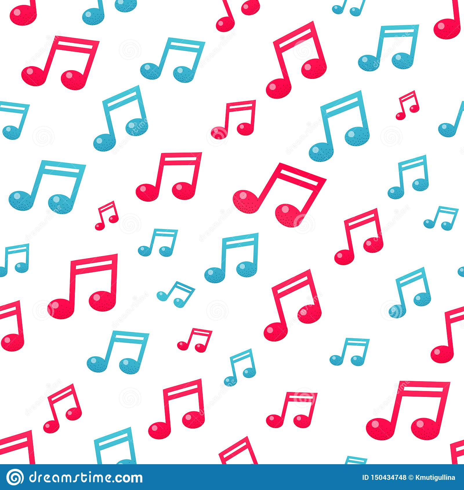 平的音乐笔记样式