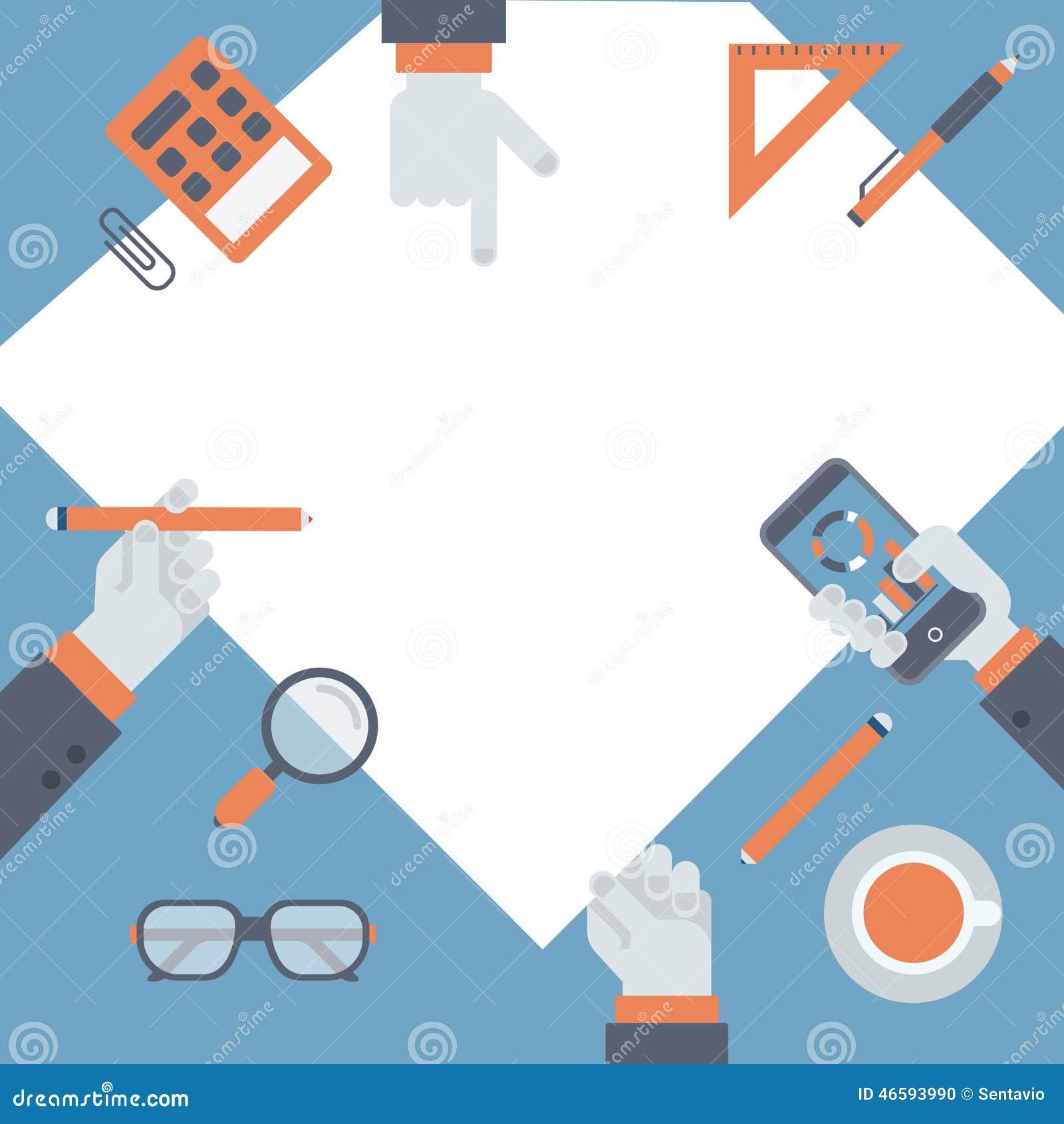 平的项目管理,经营研究新的想法概念