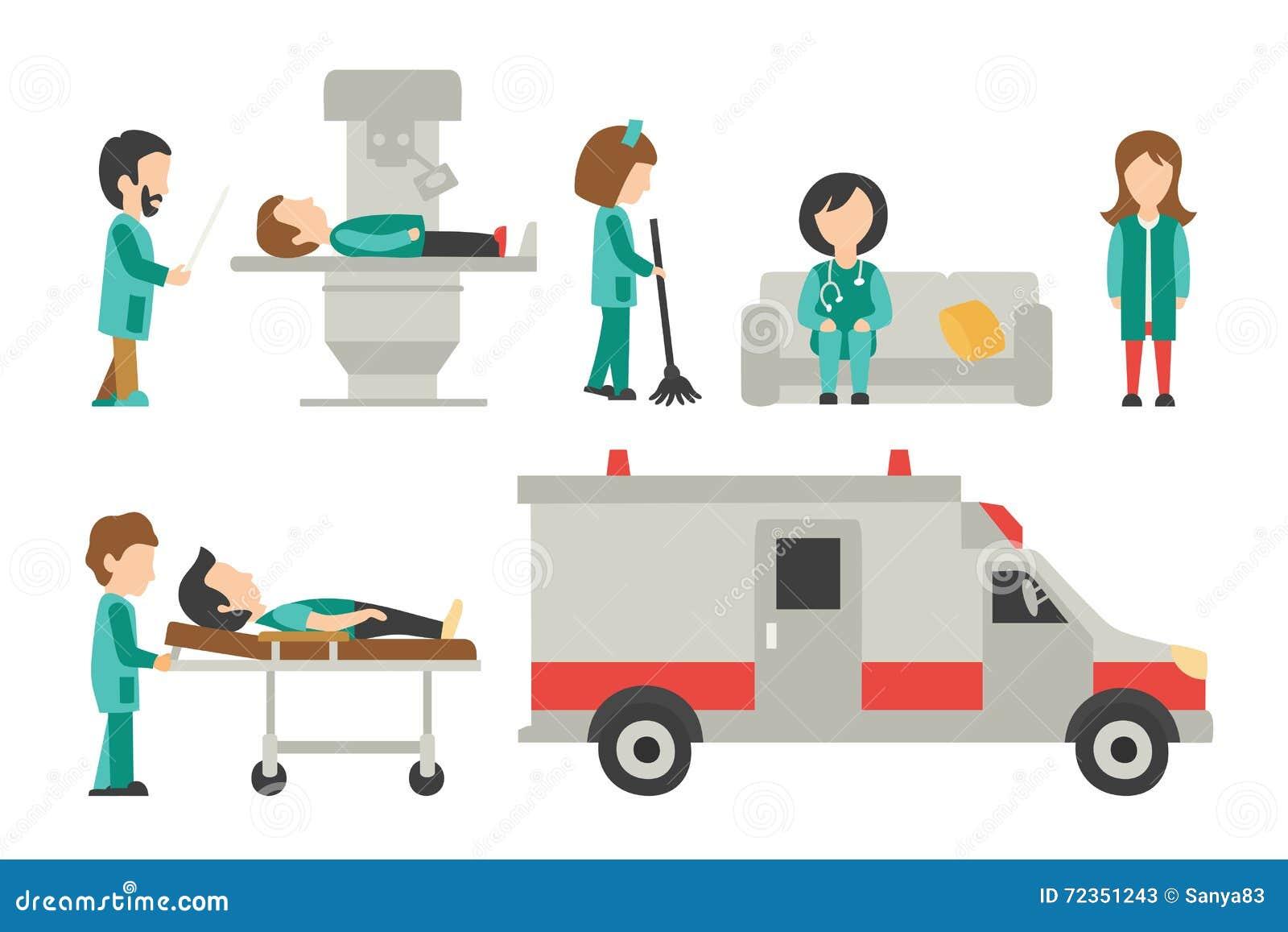 平的医护人员,隔绝在白色背景,护士,关心,人传染媒介例证,图表编辑可能医生,为