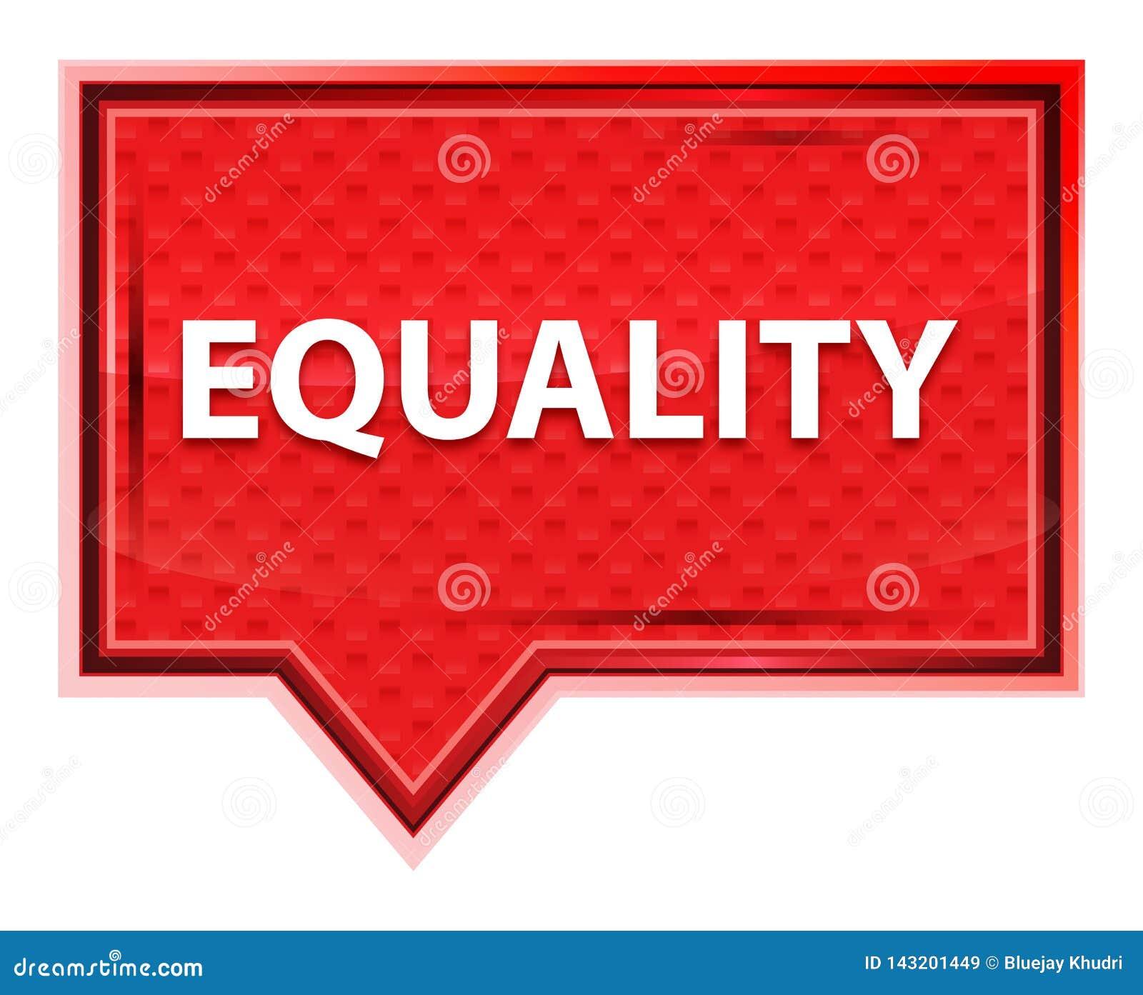 平等有薄雾的淡粉红色横幅按钮